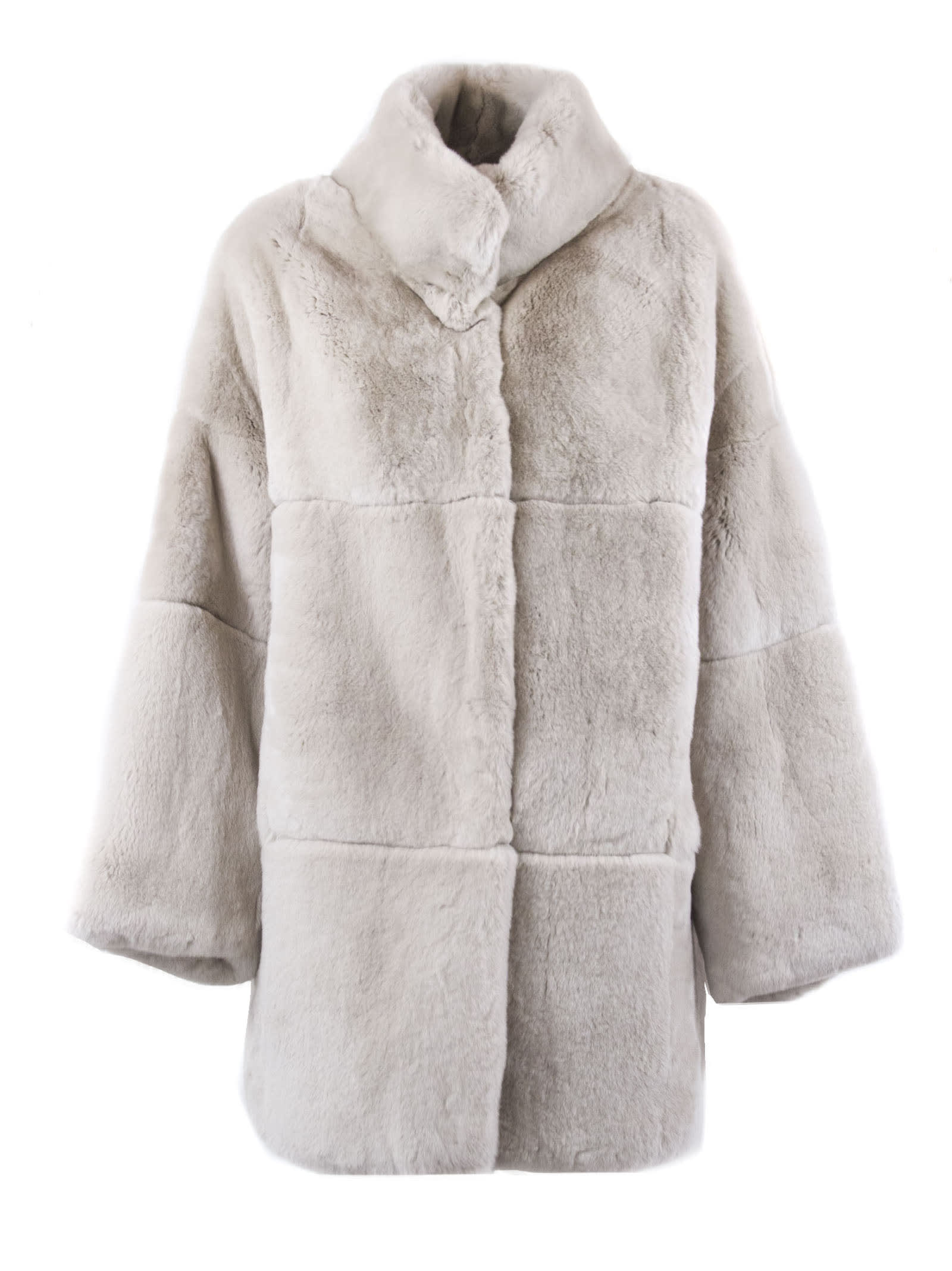 Photo of  S.W.O.R.D 6.6.44 Pink Rabbit Fur Shearling Button-up Coat- shop S.W.O.R.D 6.6.44 jackets online sales