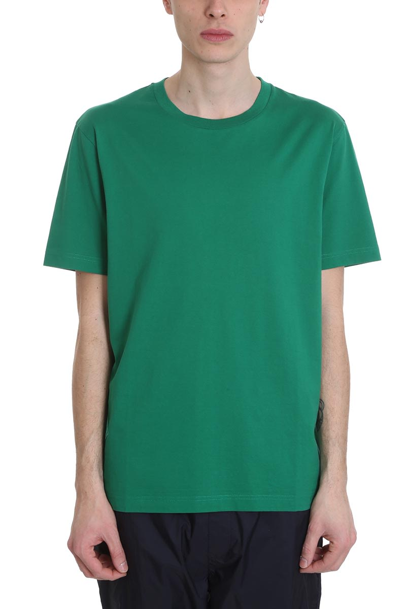 Acne Studios Cottons EVEREST T-SHIRT IN GREEN COTTON