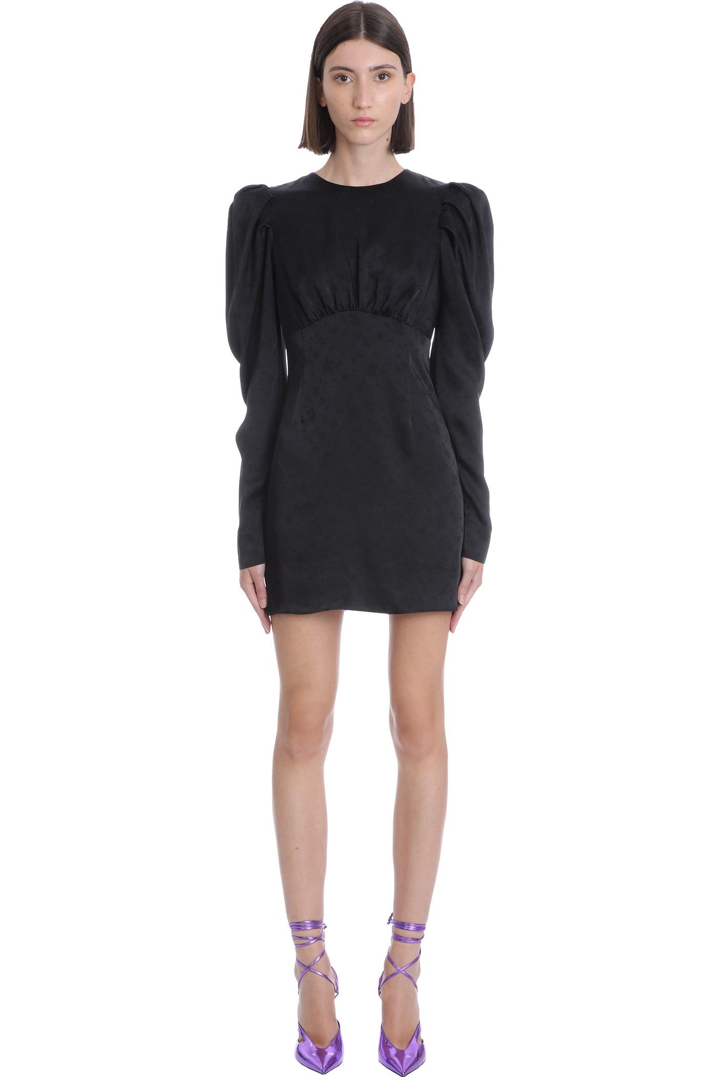 Hope Mini Dress In Black Acetate