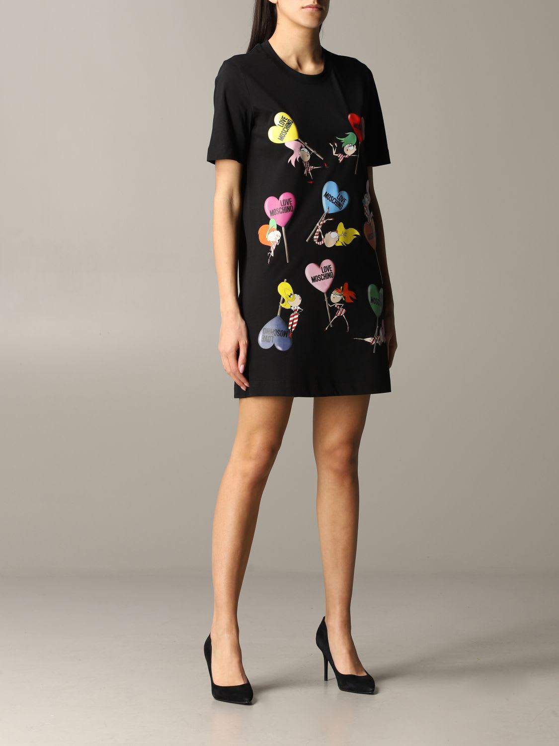 Buy Love Moschino Dress Love Moschino Dress With Doll Print online, shop Love Moschino with free shipping