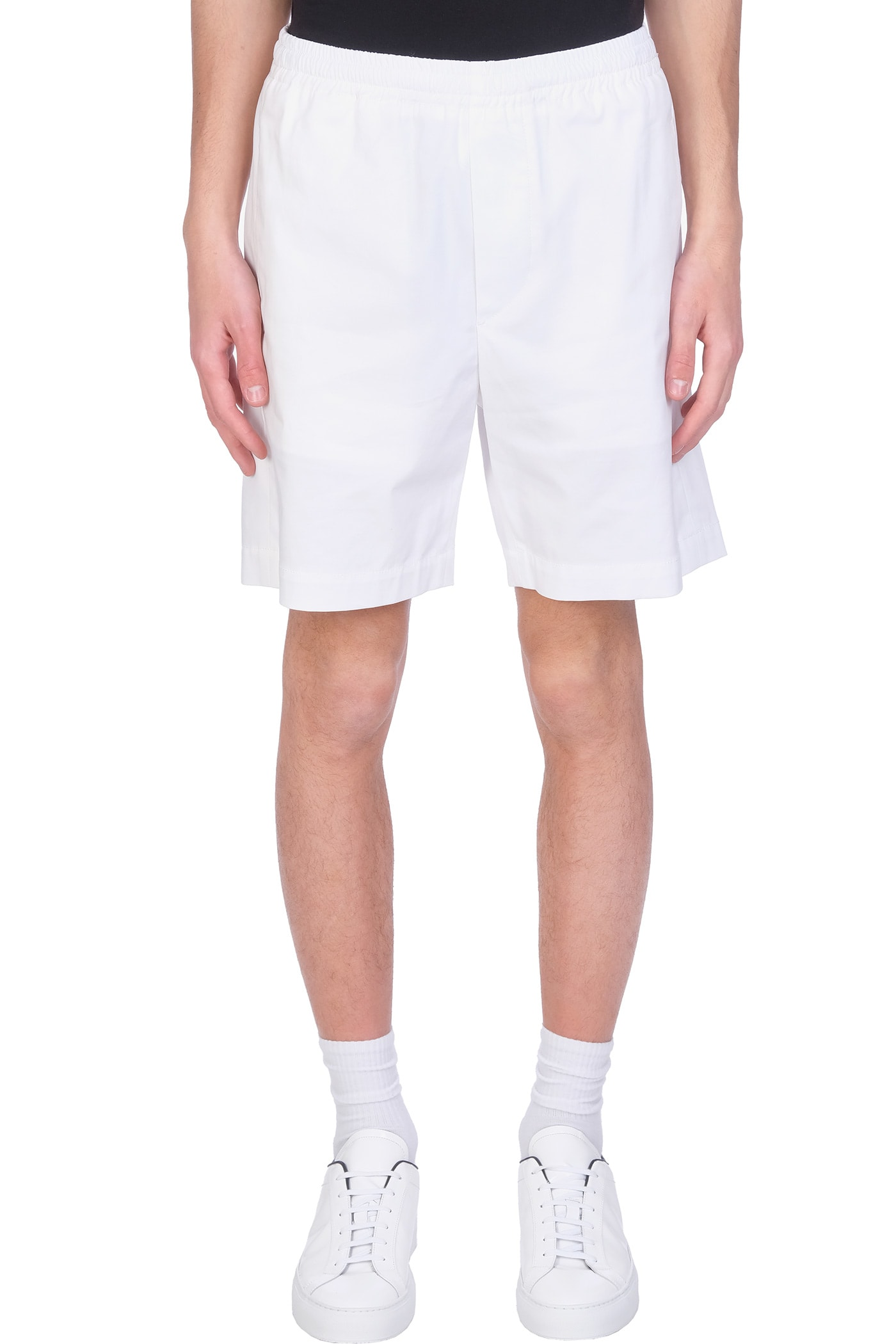 Shorts In White Cotton