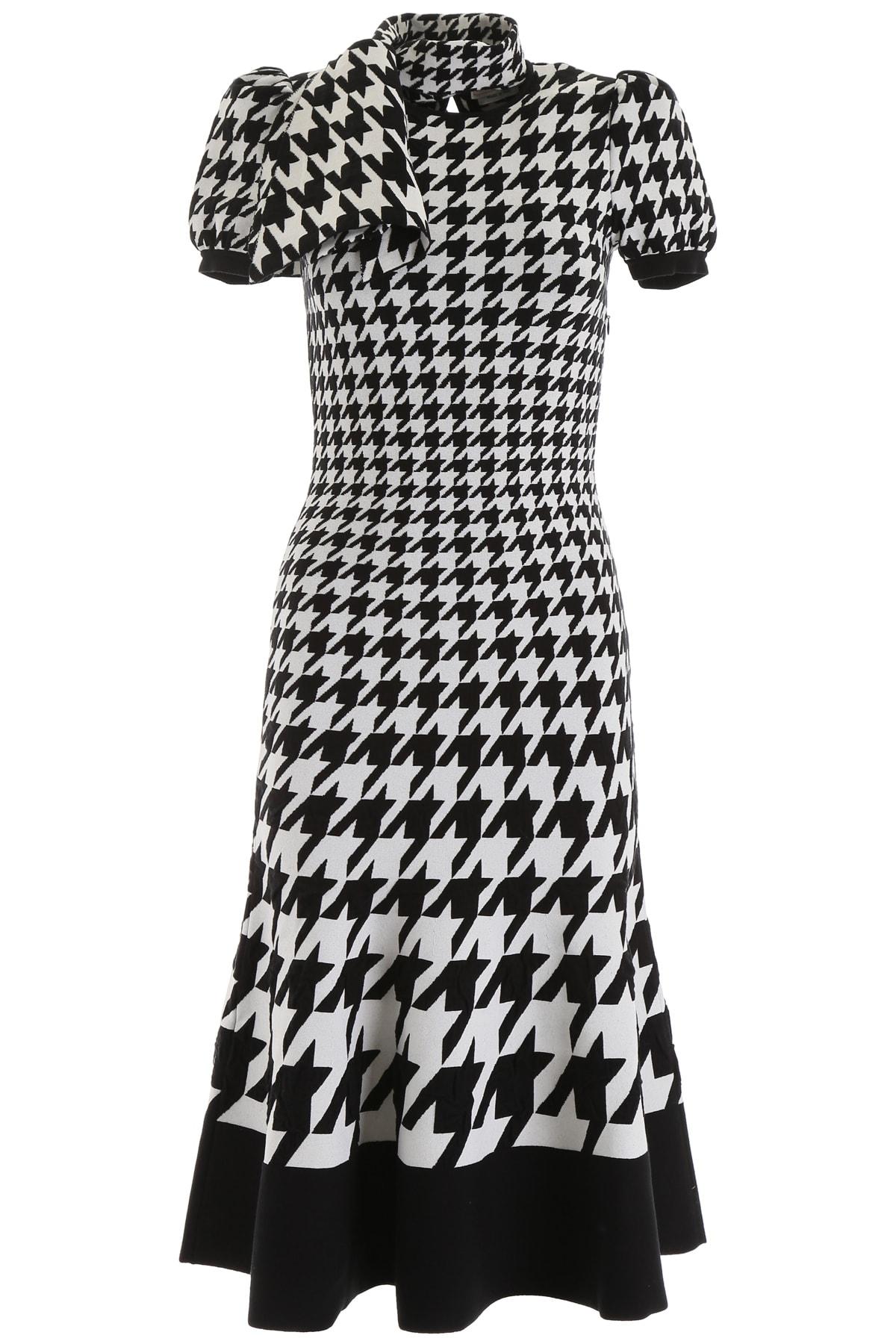 Alexander McQueen Houndstooth Knit Dress