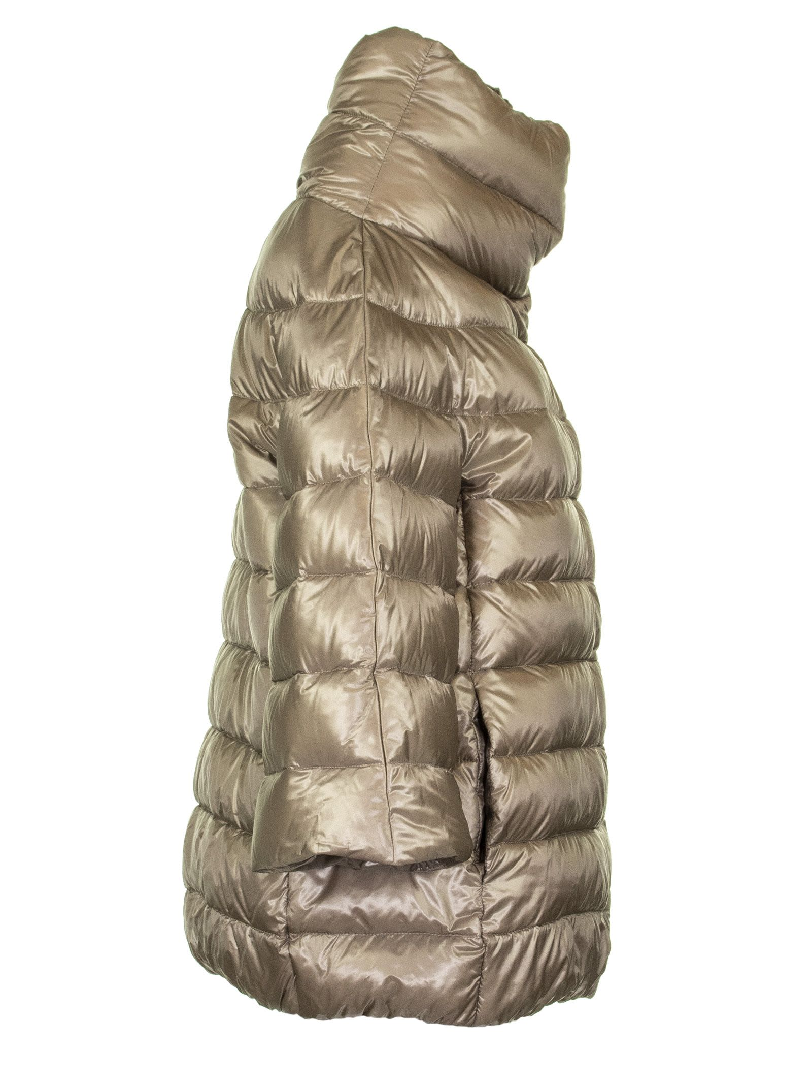 2dc0651c6 Herno Down Jacket With High Neck And Three-four Sleeves