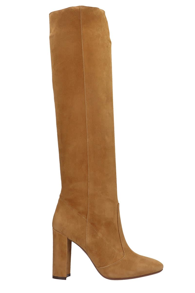 LAutre Chose Boots In Leather Color Suede