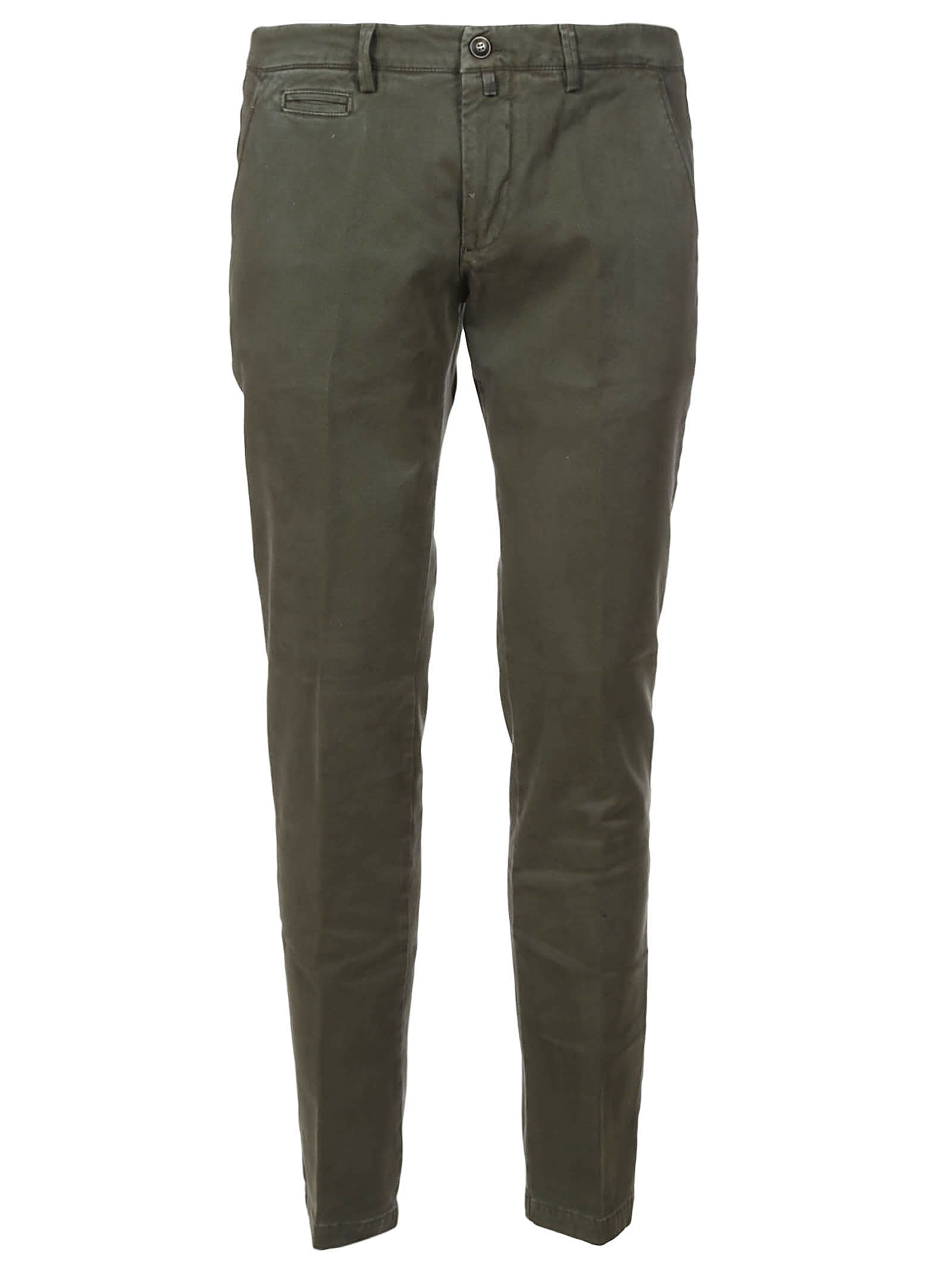 1949 Slim Fit Plain Cropped Trousers