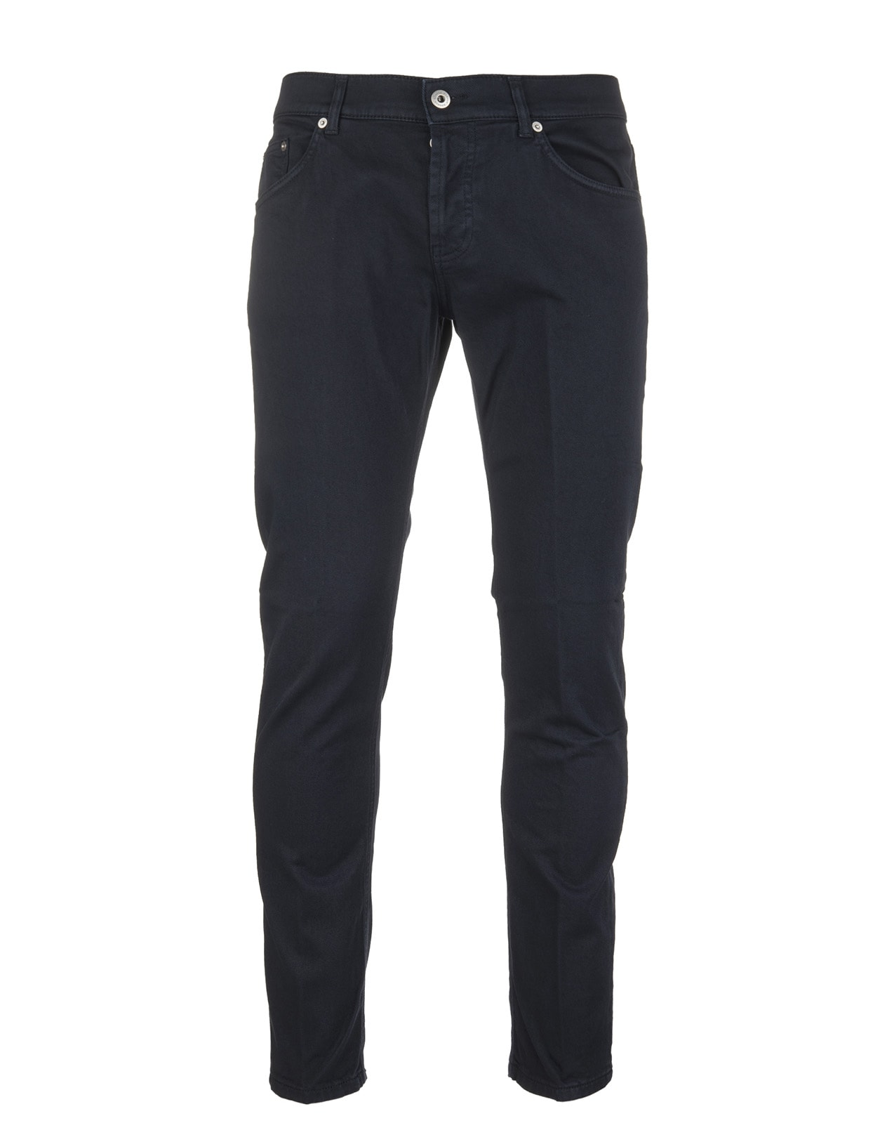 Night Blue Cotton Blend Mius Low Rise Man Jeans