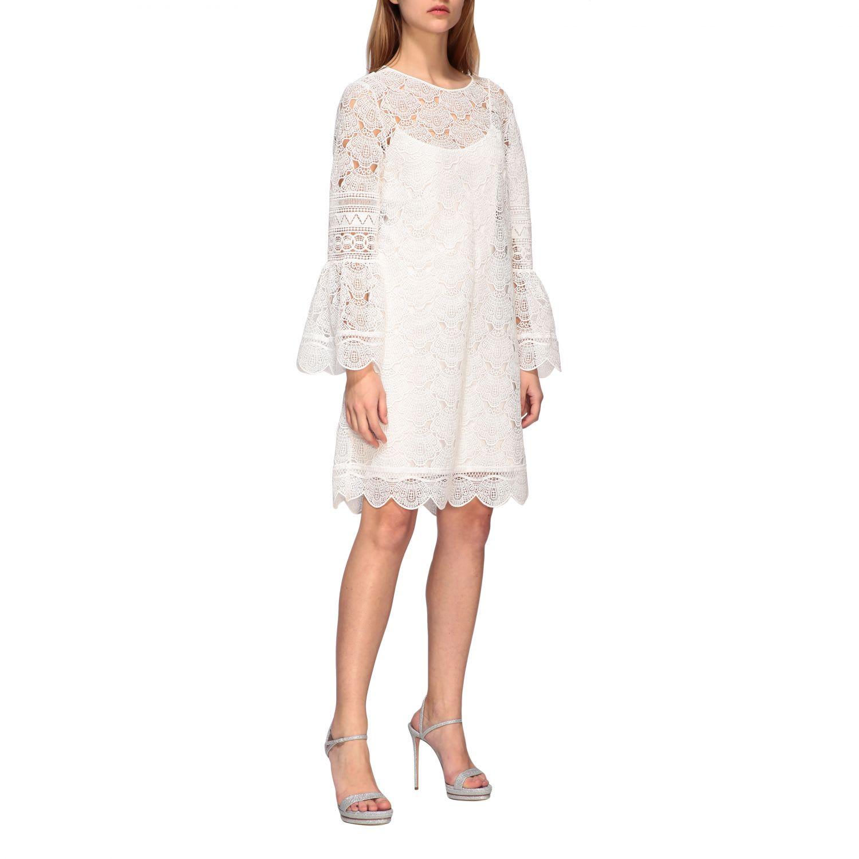 Buy Alberta Ferretti Dress Alberta Ferretti Macramé Dress With Tulip Sleeves online, shop Alberta Ferretti with free shipping