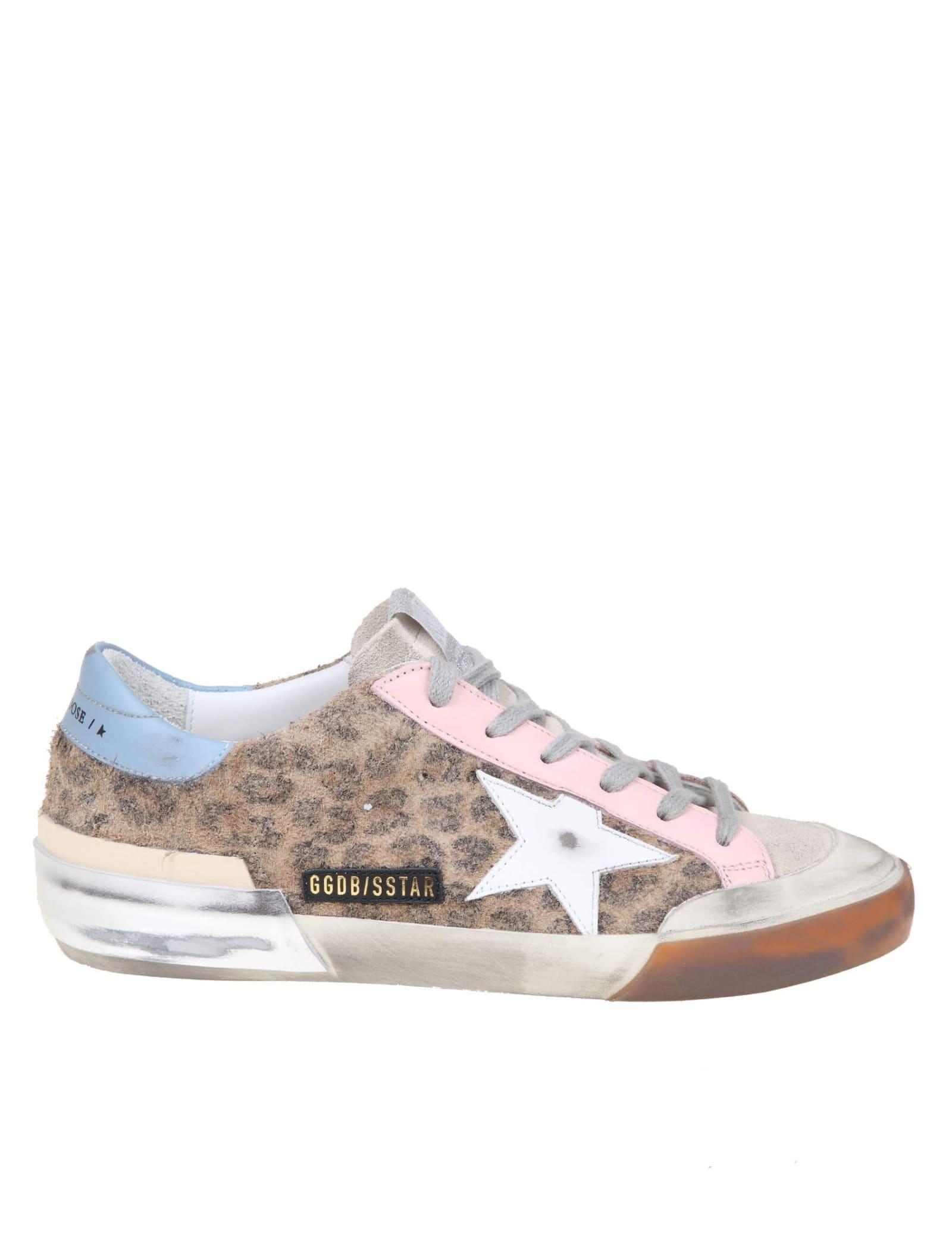 Golden Goose Superstar Sneakers Suede Leopard Print