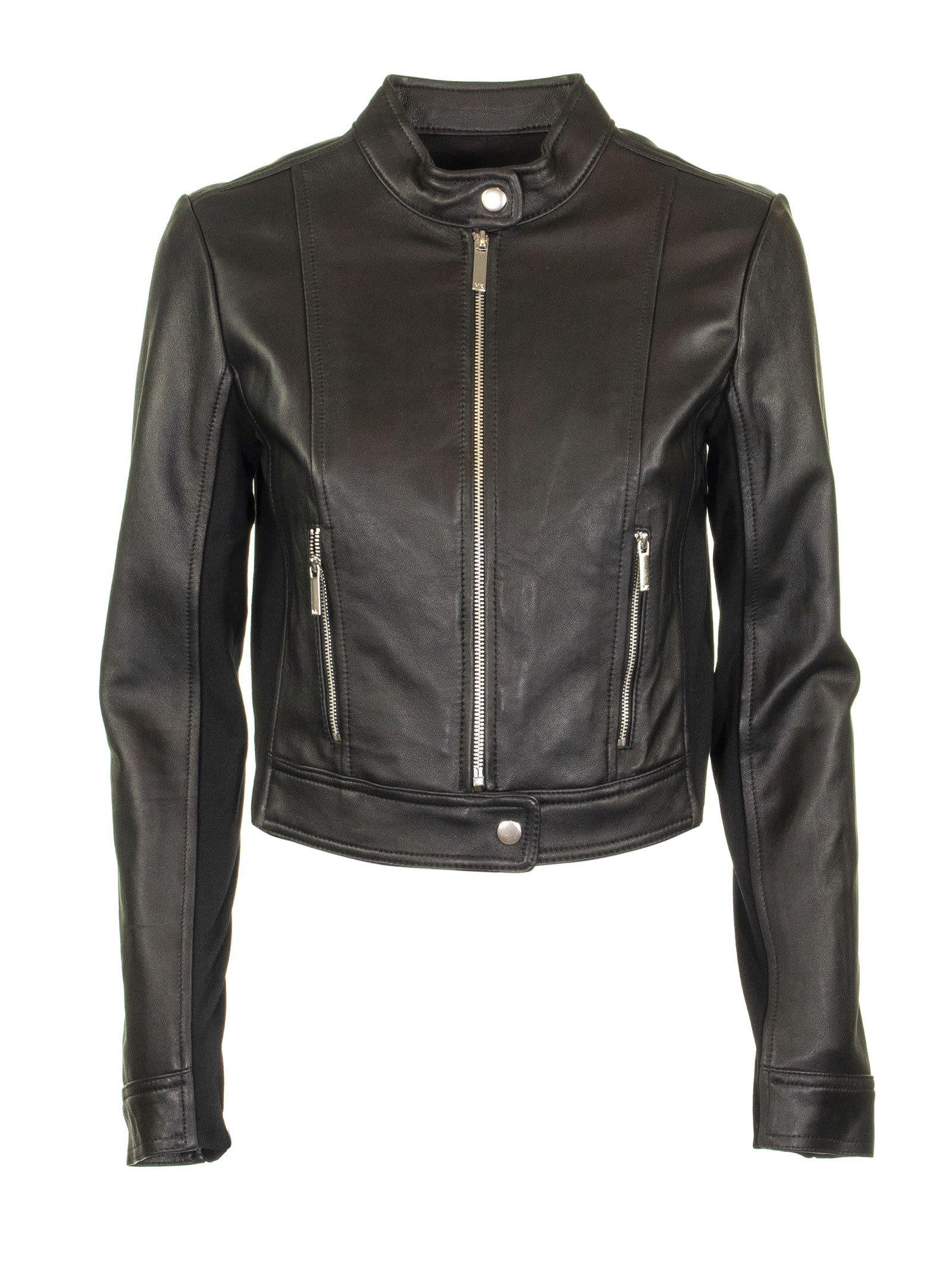 Photo of  Michael Kors Leather Jacket Black- shop Michael Kors jackets online sales