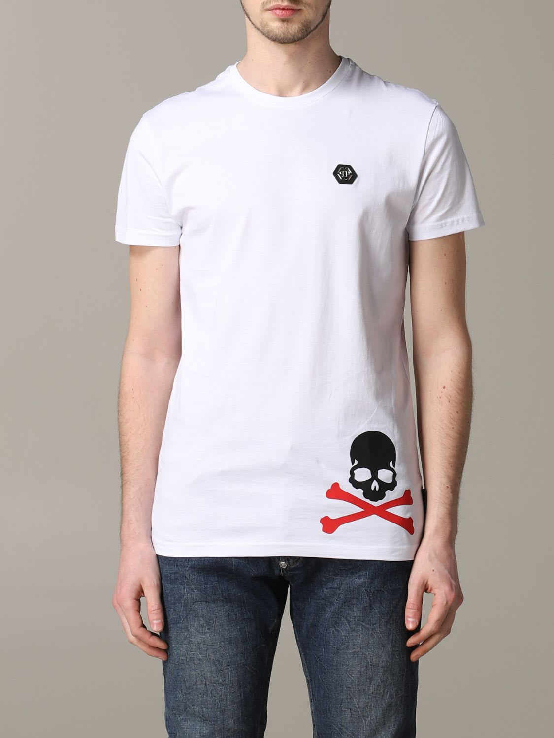 Philipp Plein T-shirt Philipp Plein Short-sleeved T-shirt With Logo And Skull
