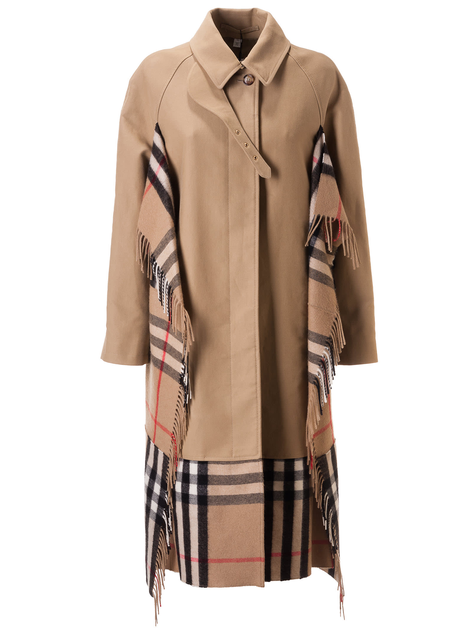 Burberry Side Checked Detail Trench