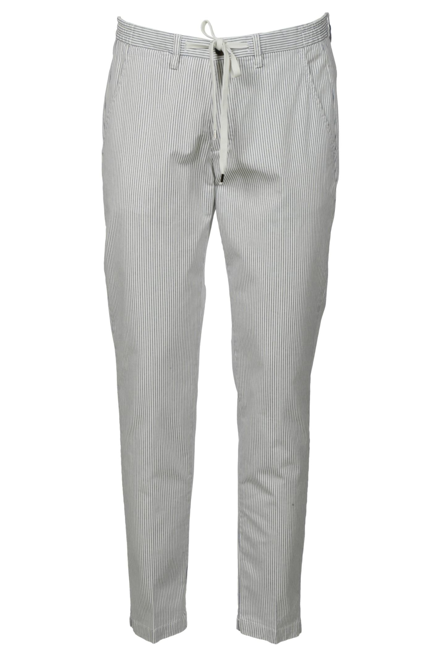 1949 Tie-waist Stripe Cropped Trousers
