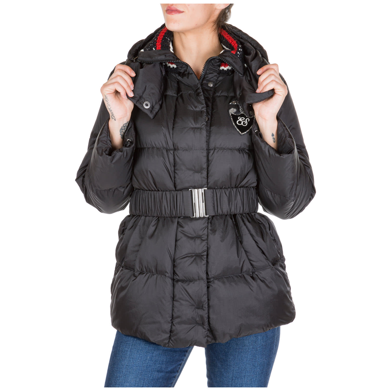 Ermanno Scervino Outerwear Down Jacket Blouson Hood
