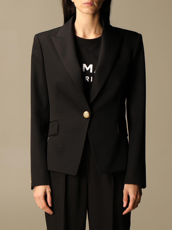 Balmain Blazer Balmain Single-breasted Wool Jacket