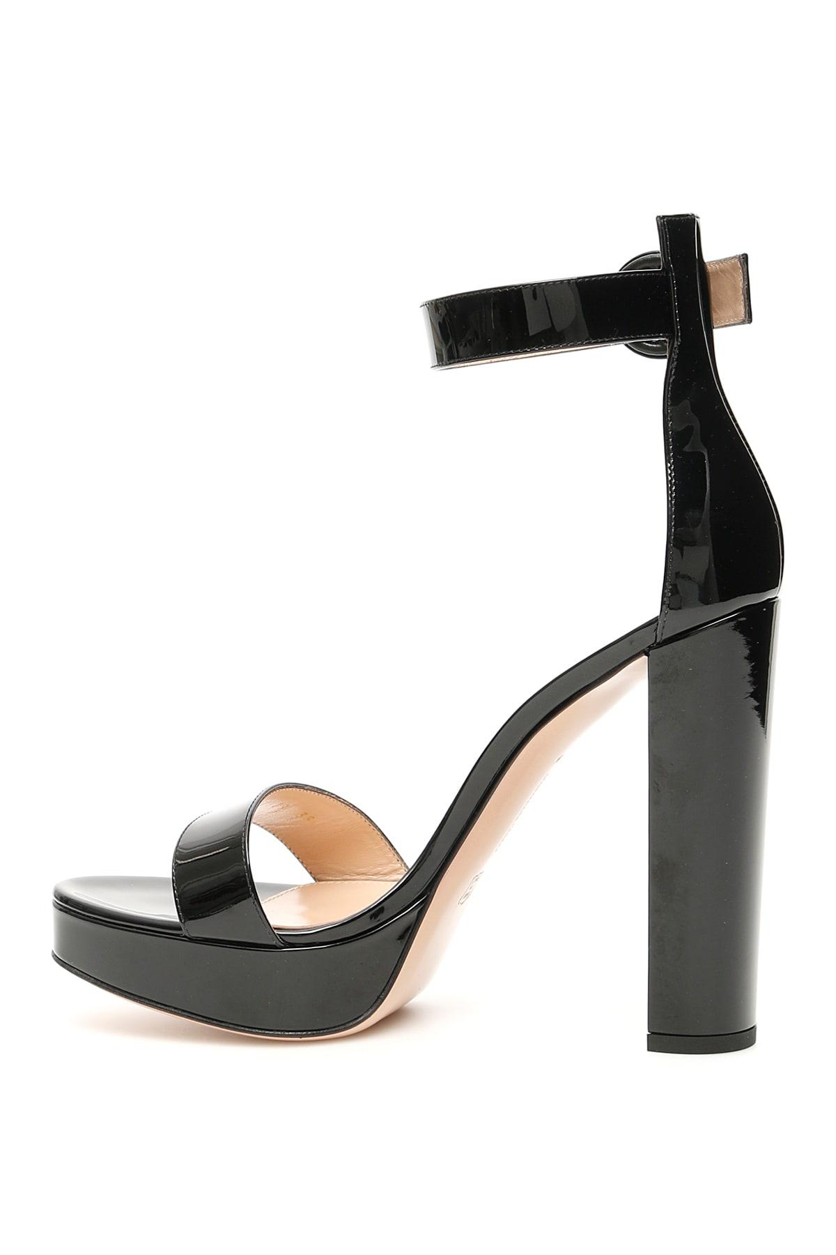 Best Authentic Gianvito Rossi Patent Portofino Sandals - Great Deals