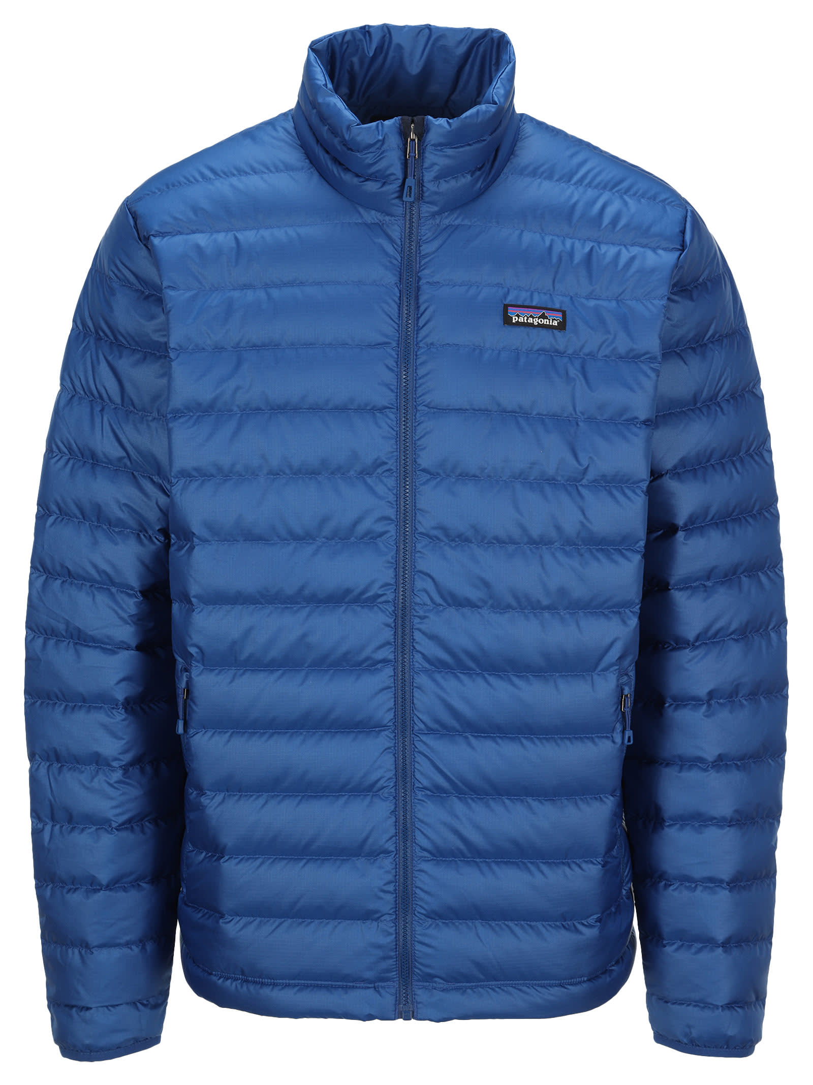 Down Jacket By Patagonia. Featuring: - Front Zip Fastening; - Logo Patch At The Chest; - Side Zip Pockets; - Long Sleeves. Composition: 100% RECYCLED POLYESTER - PADDING:, 90% DOWN, 10% FEATHER