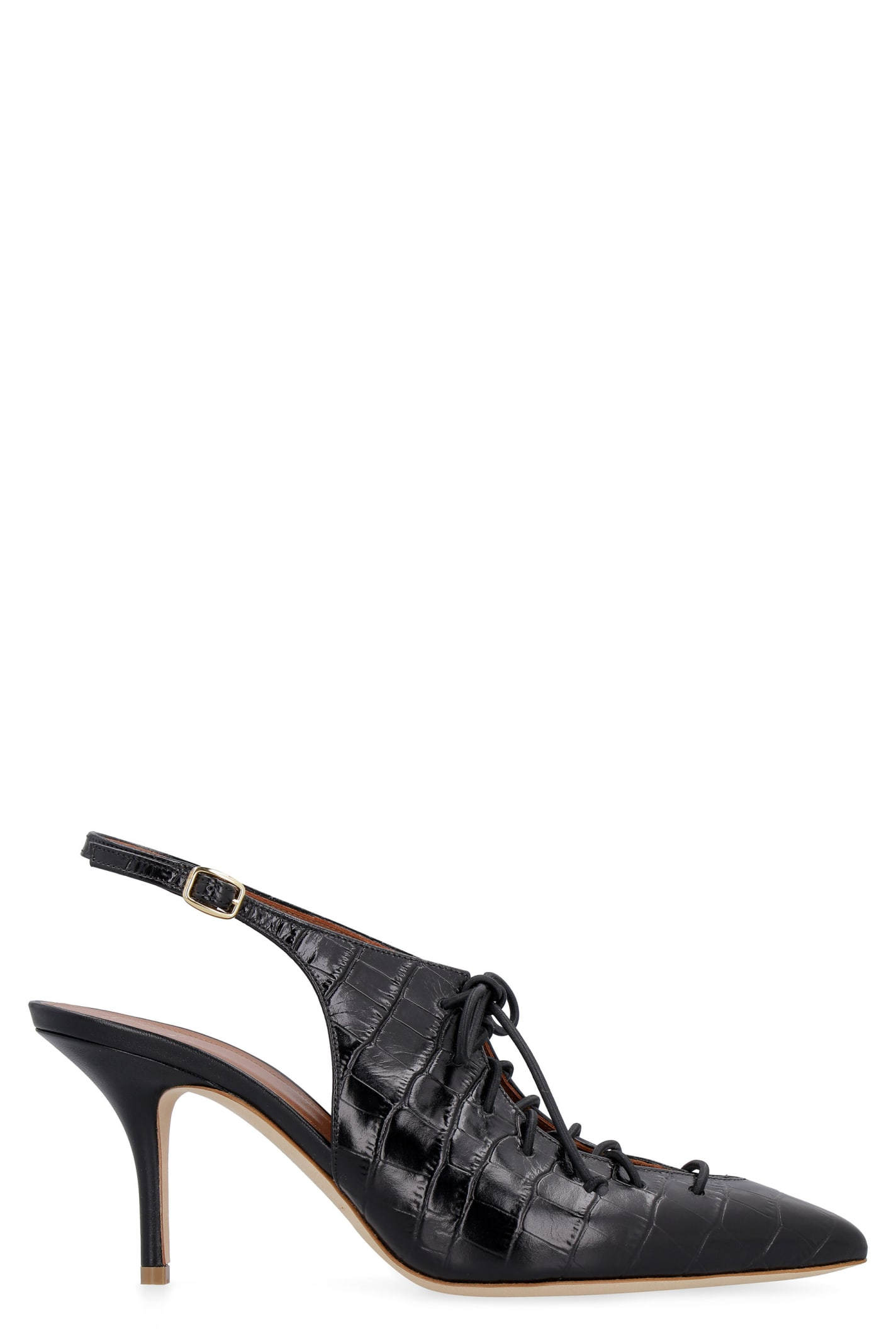 Malone Souliers Alessandra Leather Slingback Pumps