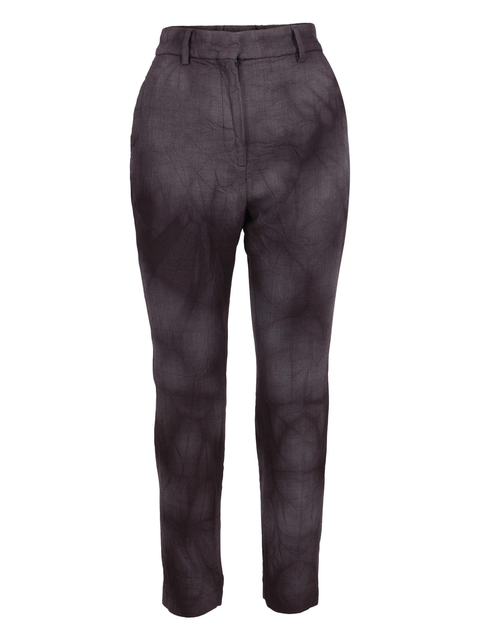 Barena Venezia Leonida Fumana Wool Trousers In Anthracite