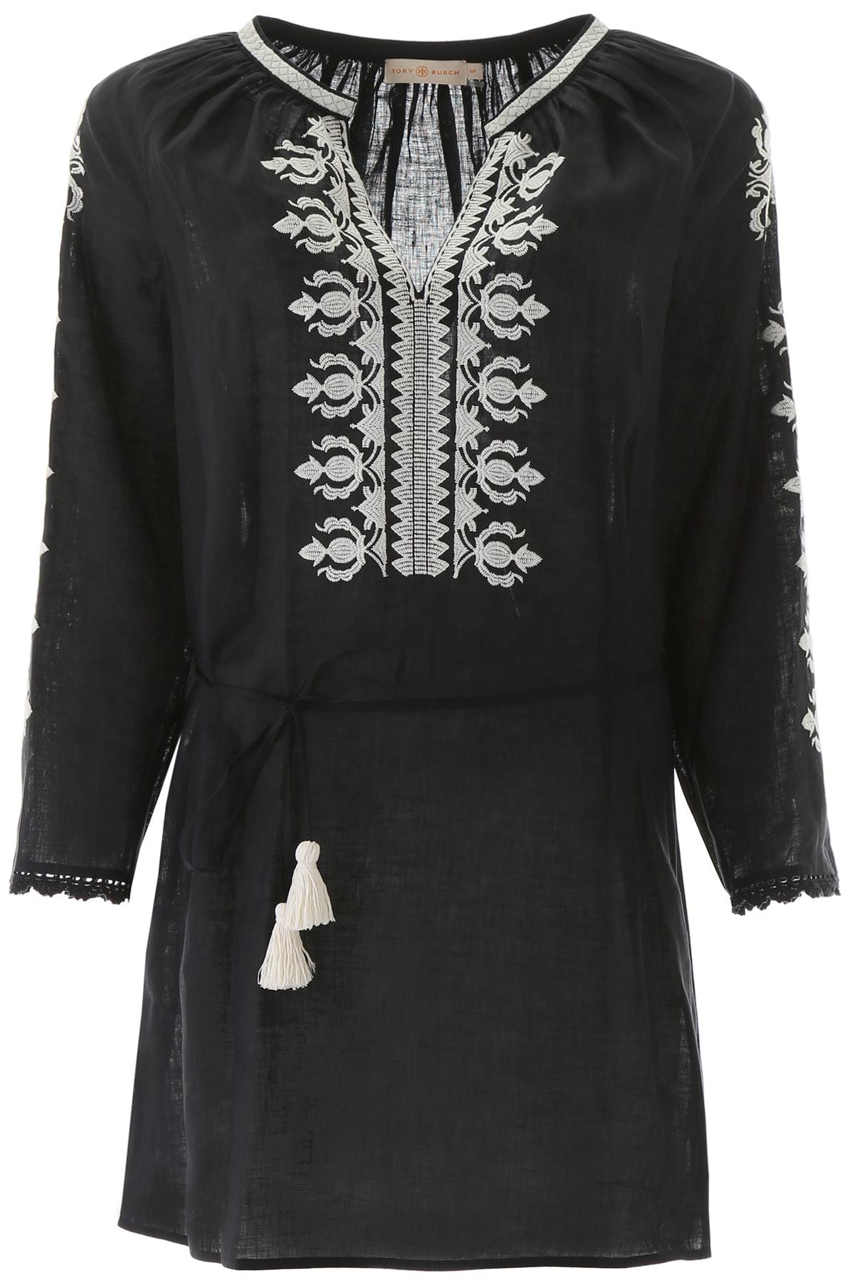Buy Tory Burch Linen Mini Dress online, shop Tory Burch with free shipping