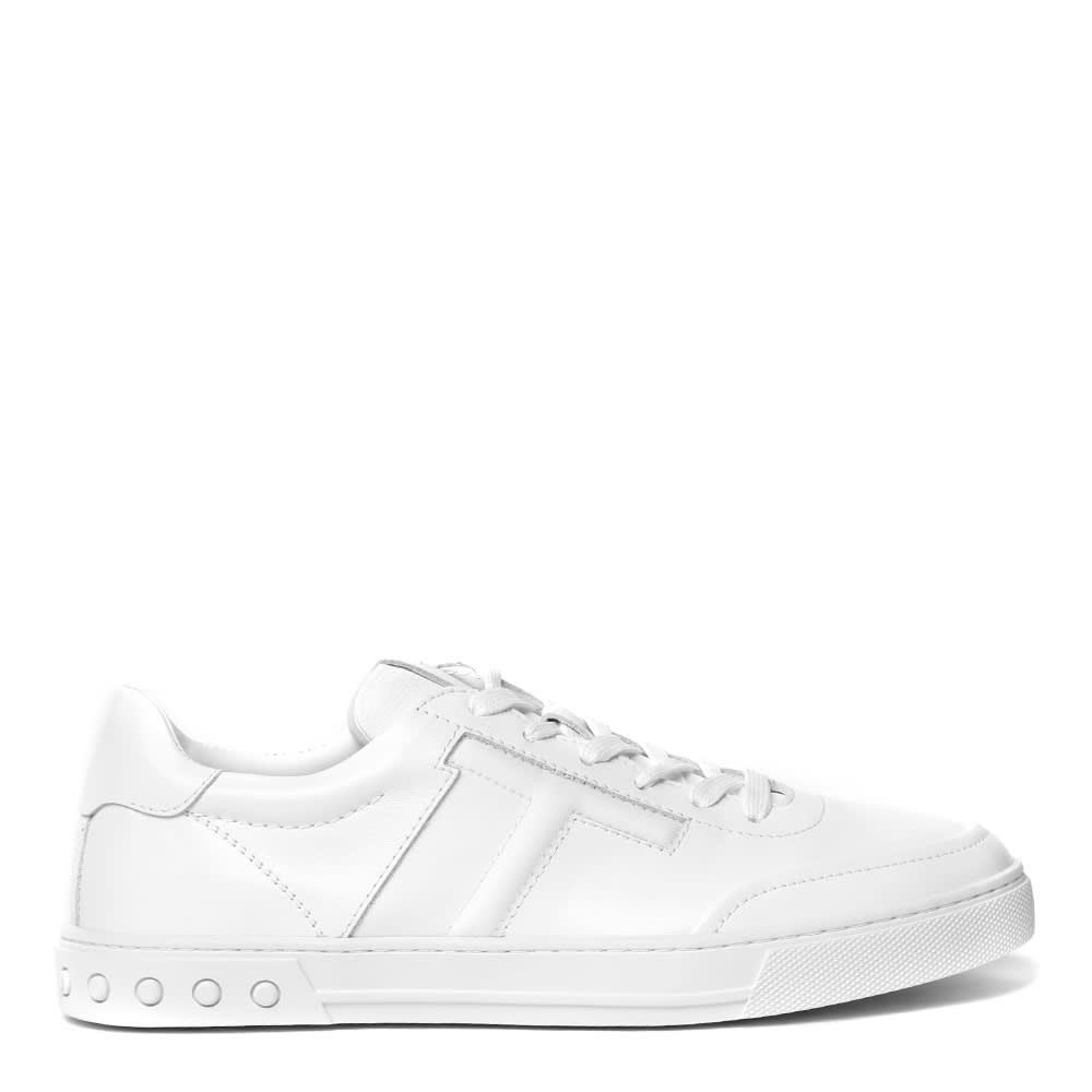 Tods White Leather Sneaker