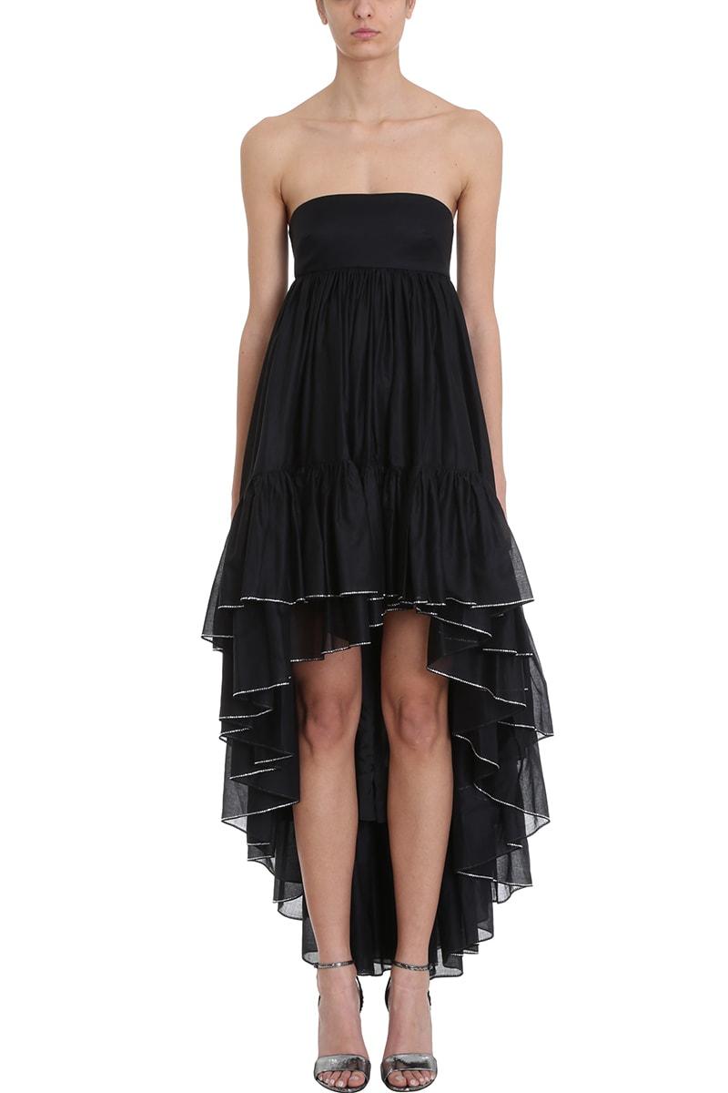 Alexandre Vauthier Asymmetric Black Cotton Dress
