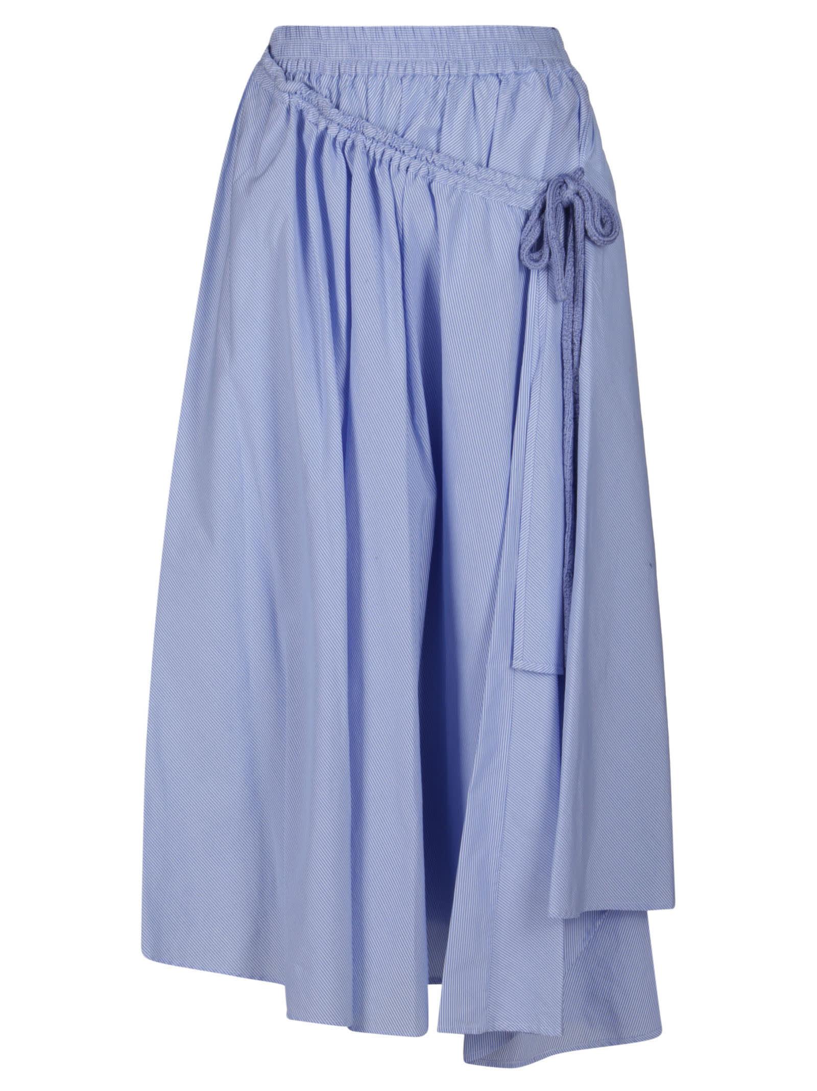 Maison Flaneur Light Blue Cotton Skirt