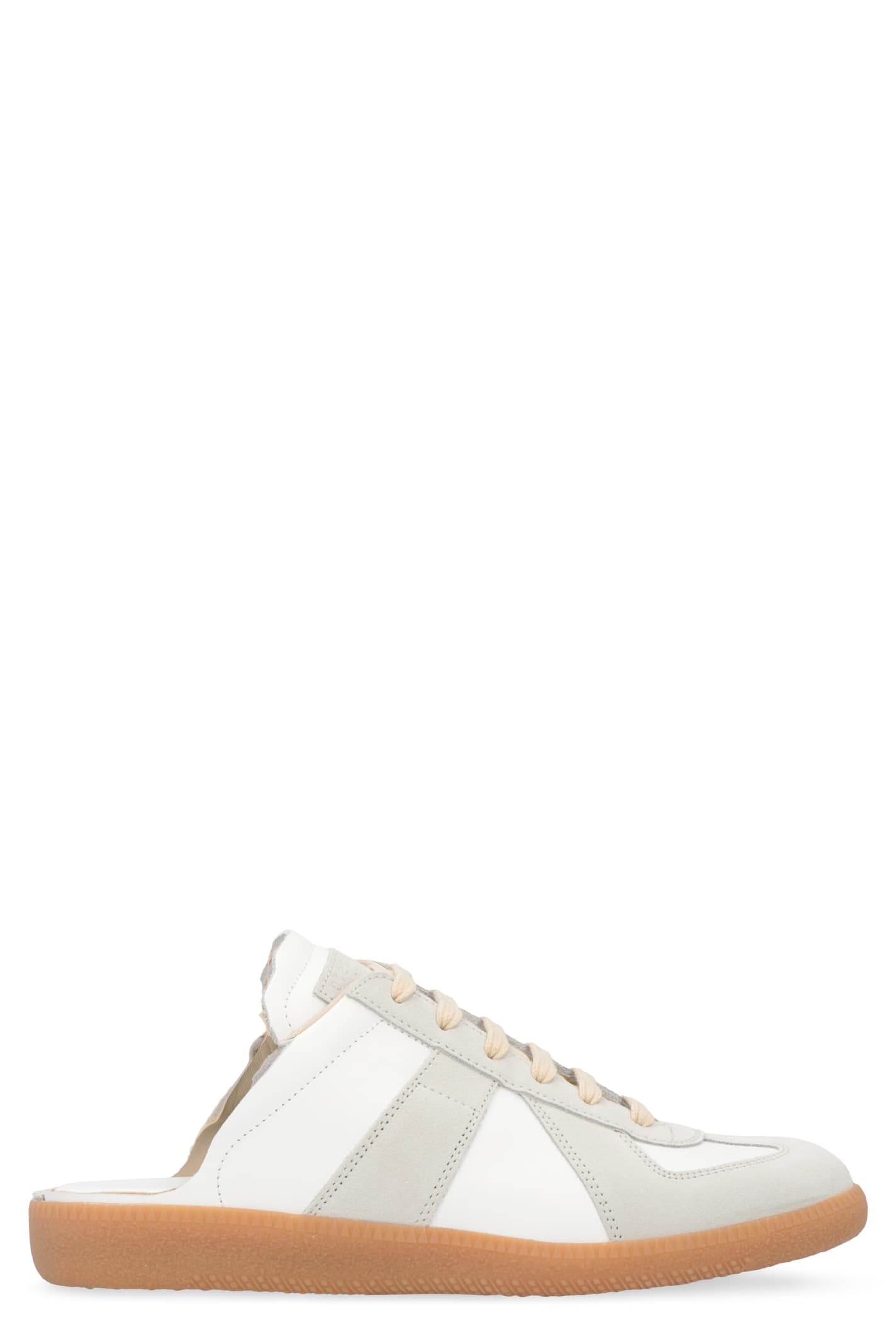 Buy Maison Margiela Replica Leather Sneaker-mules online, shop Maison Margiela shoes with free shipping