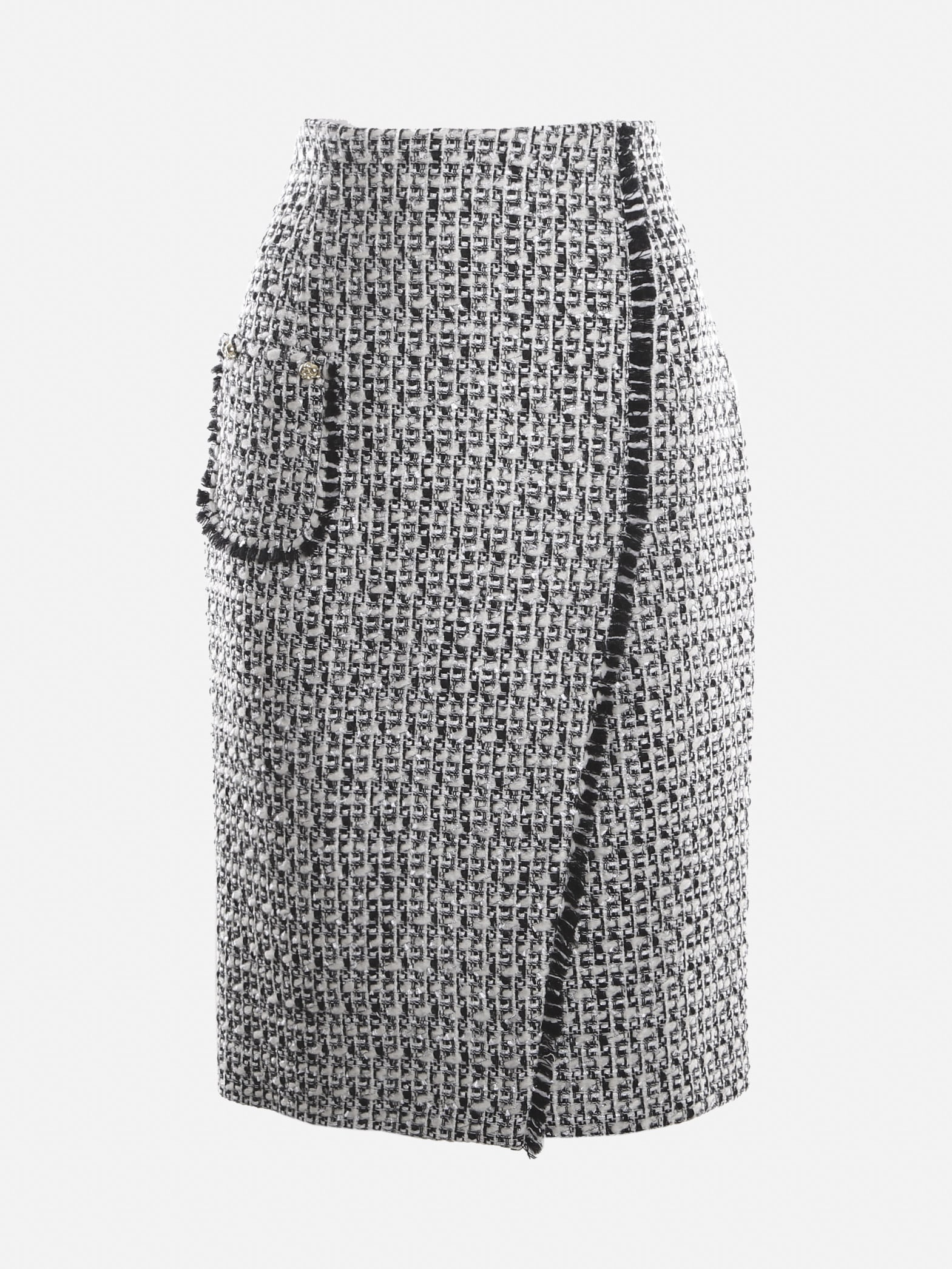 High-waisted Jacquard Skirt With Lamé Inserts