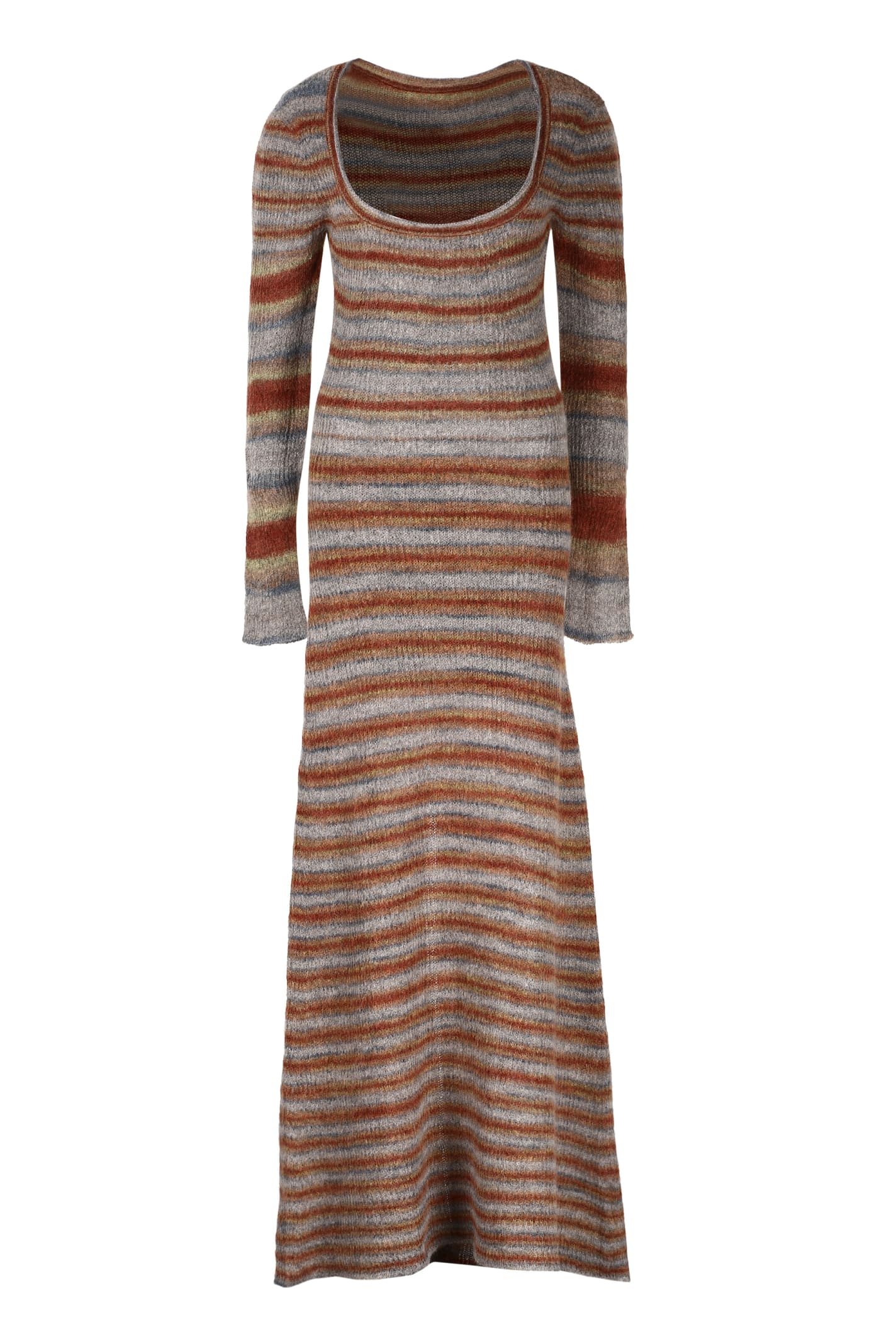 Buy Jacquemus Perou Long Knitted Striped Dress online, shop Jacquemus with free shipping