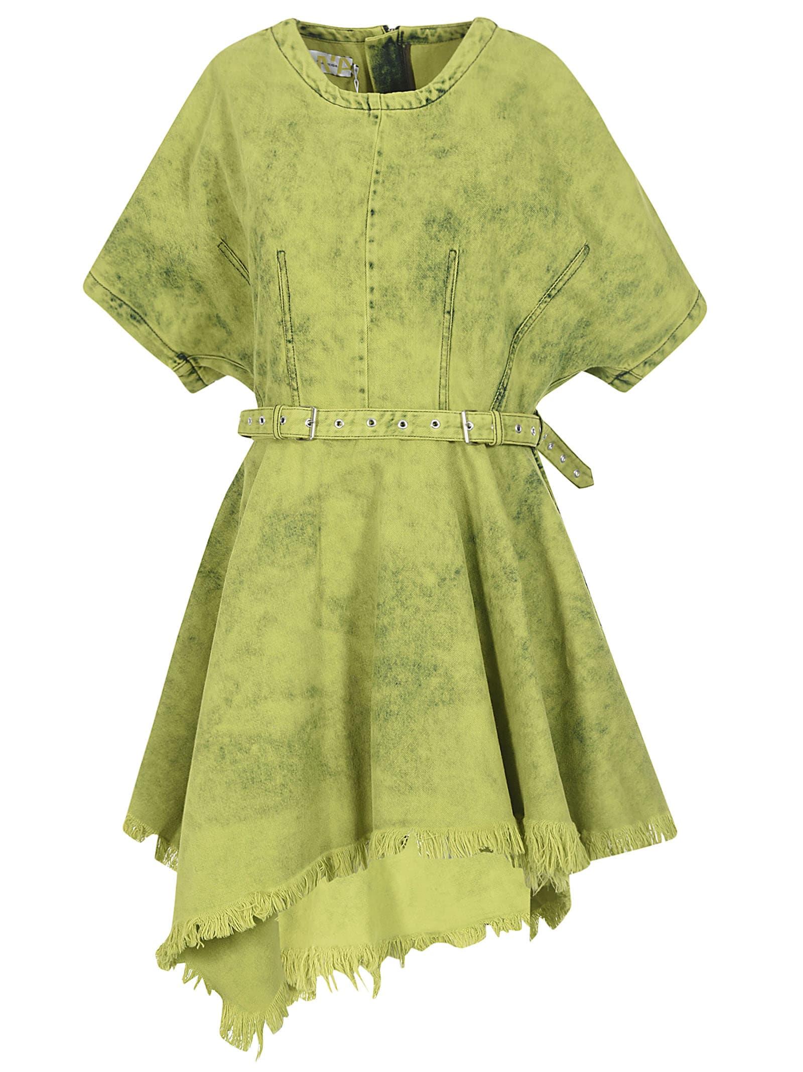 Buy MarquesAlmeida Fringed Hem Belted Dress online, shop MarquesAlmeida with free shipping
