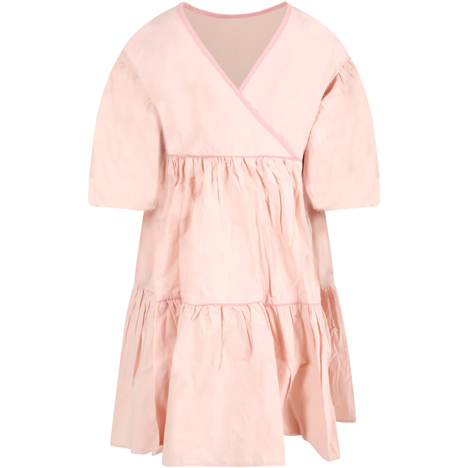 Buy Molo Pink Dress For Girl online, shop Molo with free shipping