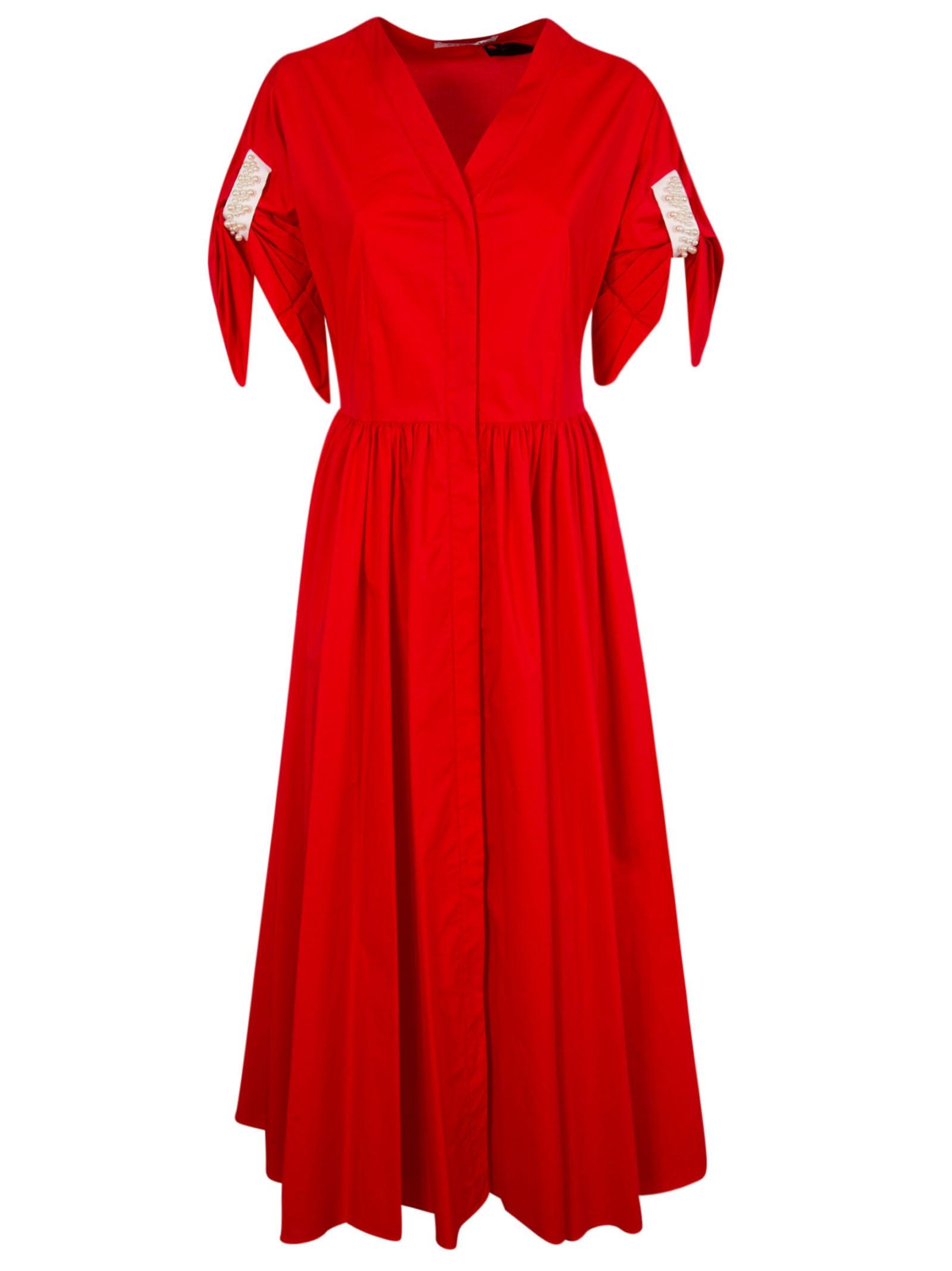 Buy Vivetta Sleeve Embellished Dress online, shop Vivetta with free shipping