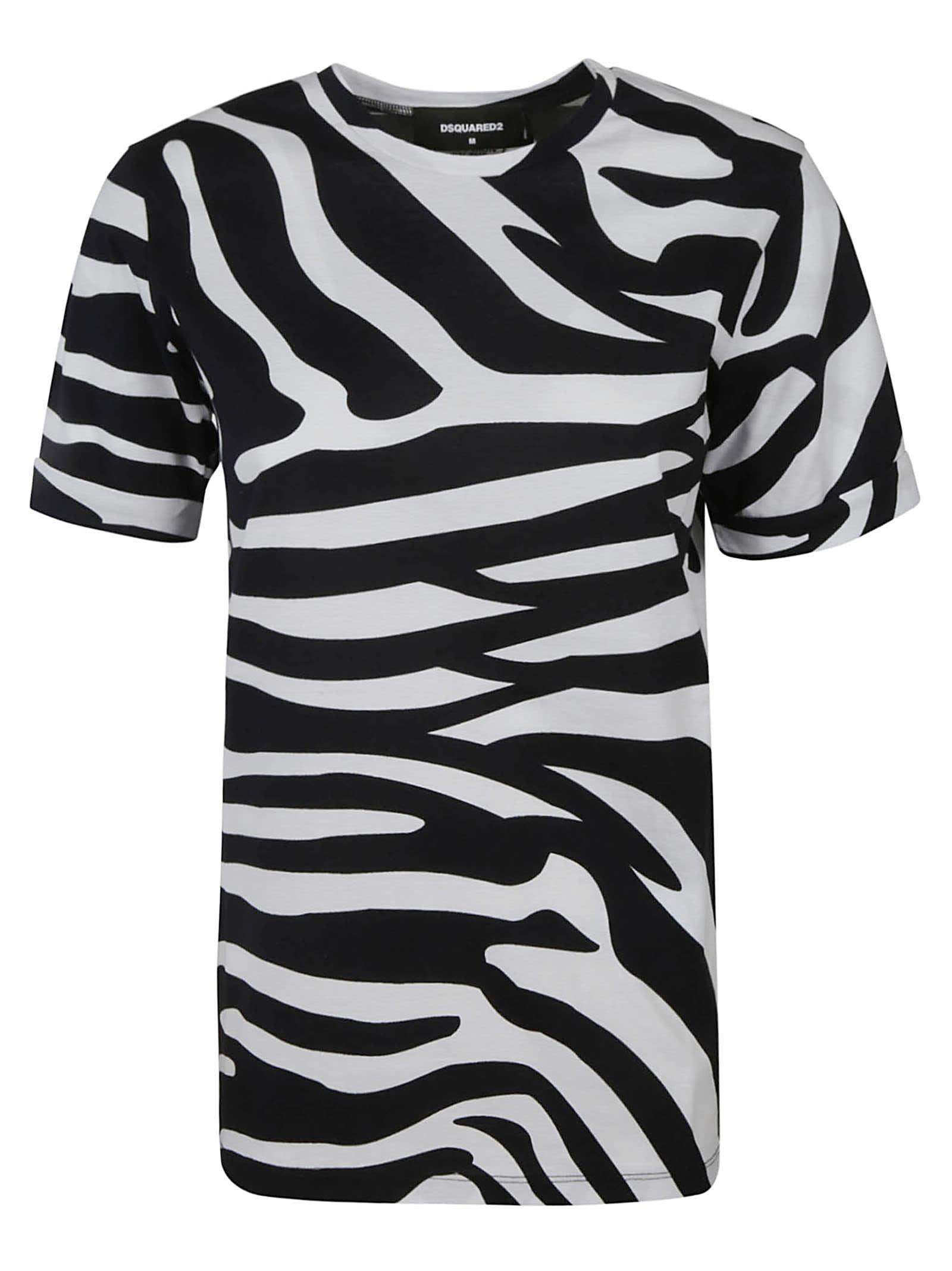 Dsquared2 Zebra Patterned T-shirt