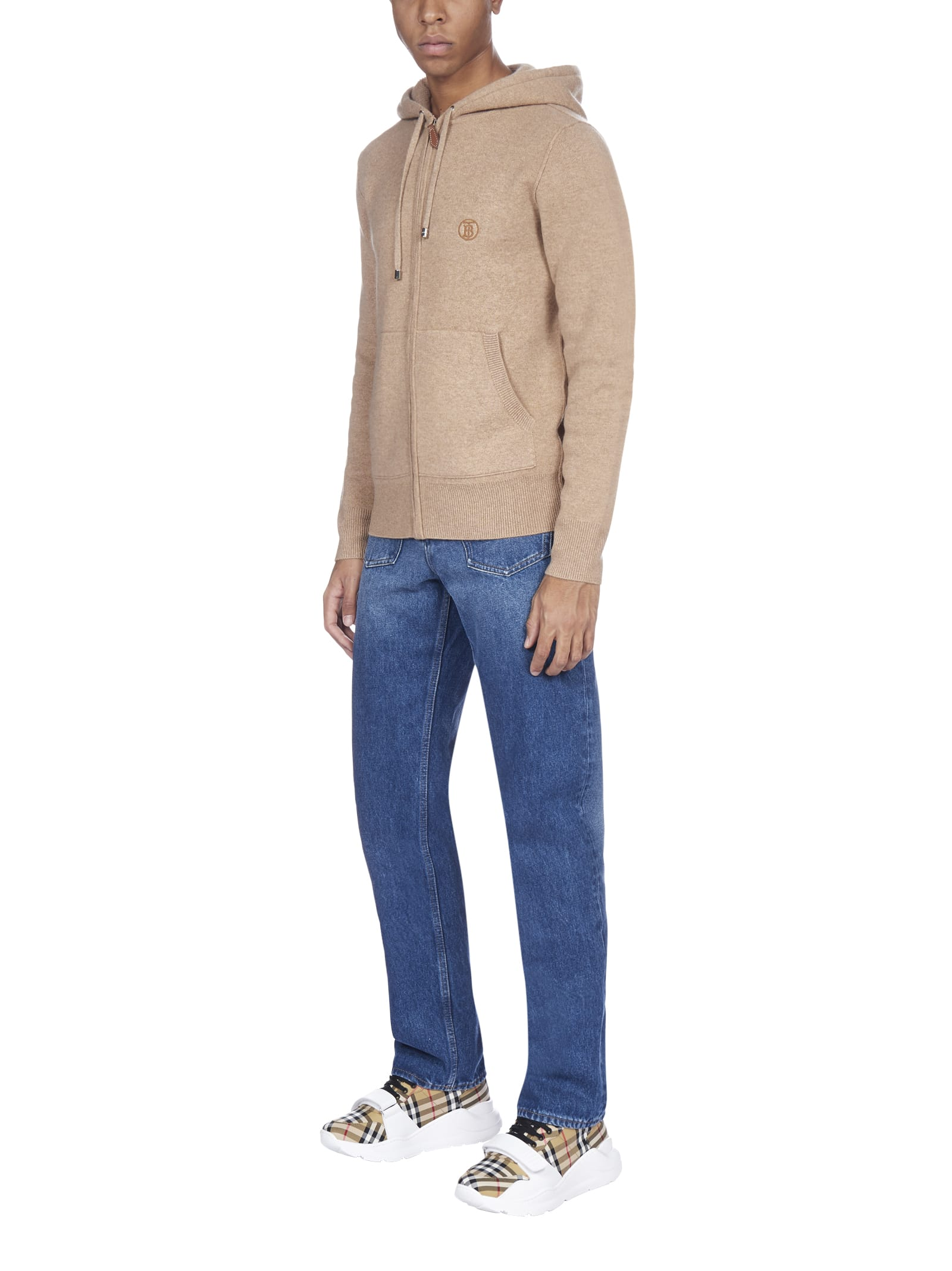 Burberry Lindley Cashmere Sipped Fleece