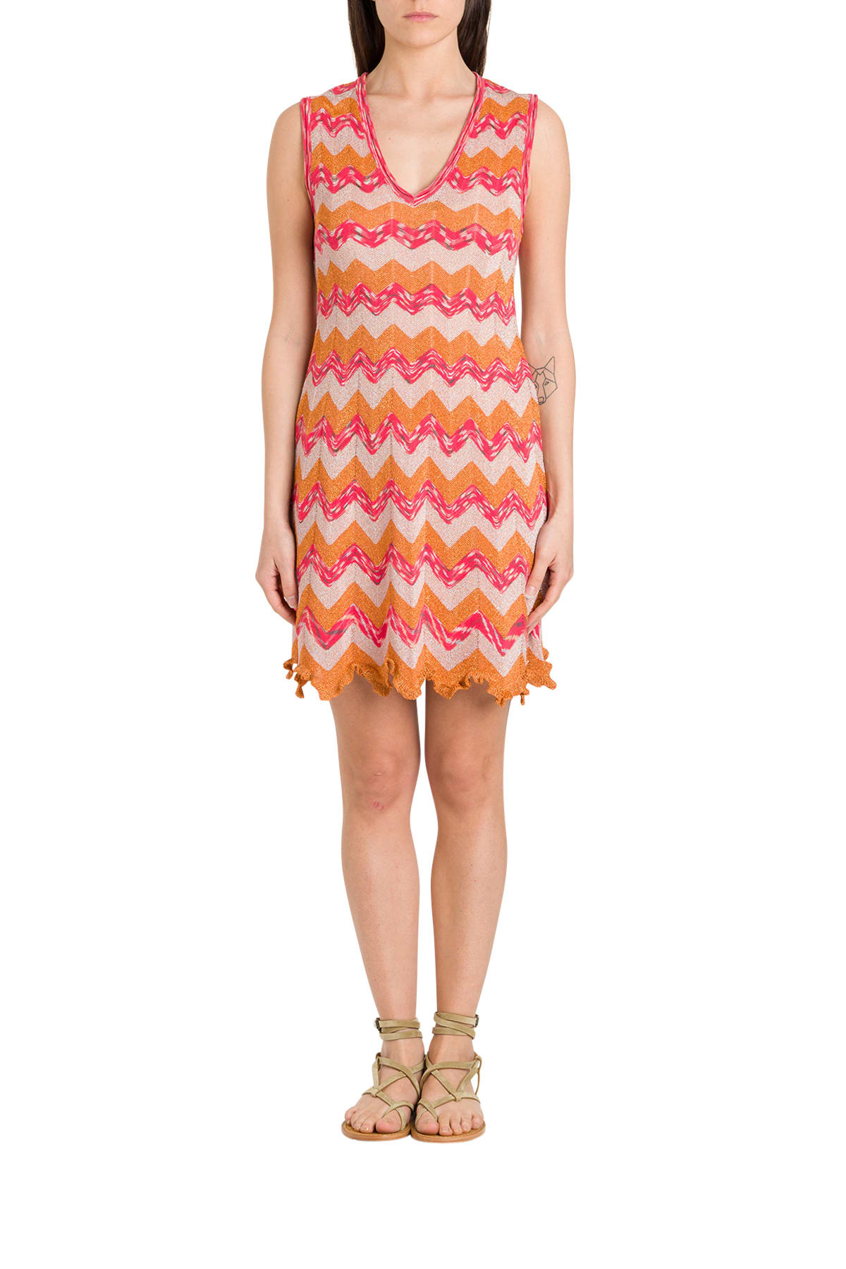 Buy Short Dress In Lurex Knit online, shop M Missoni with free shipping