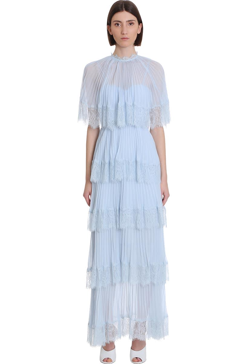 Buy self-portrait Dress In Cyan Polyester online, shop self-portrait with free shipping