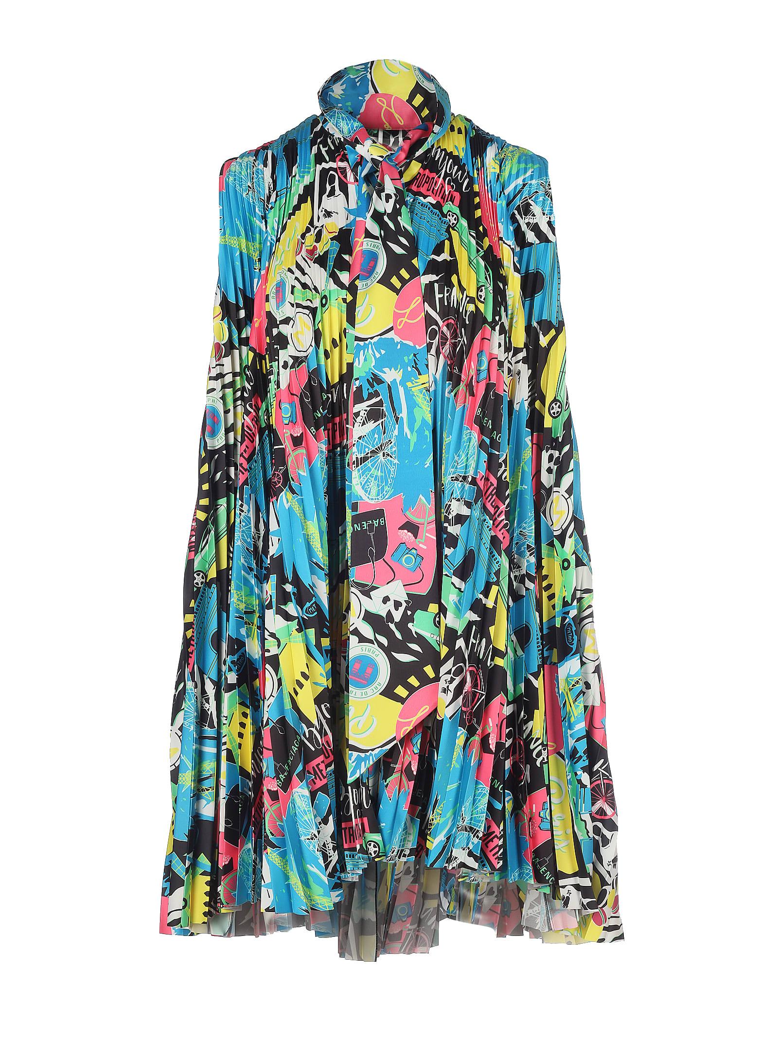 Buy Balenciaga Pleated Sl Dress online, shop Balenciaga with free shipping