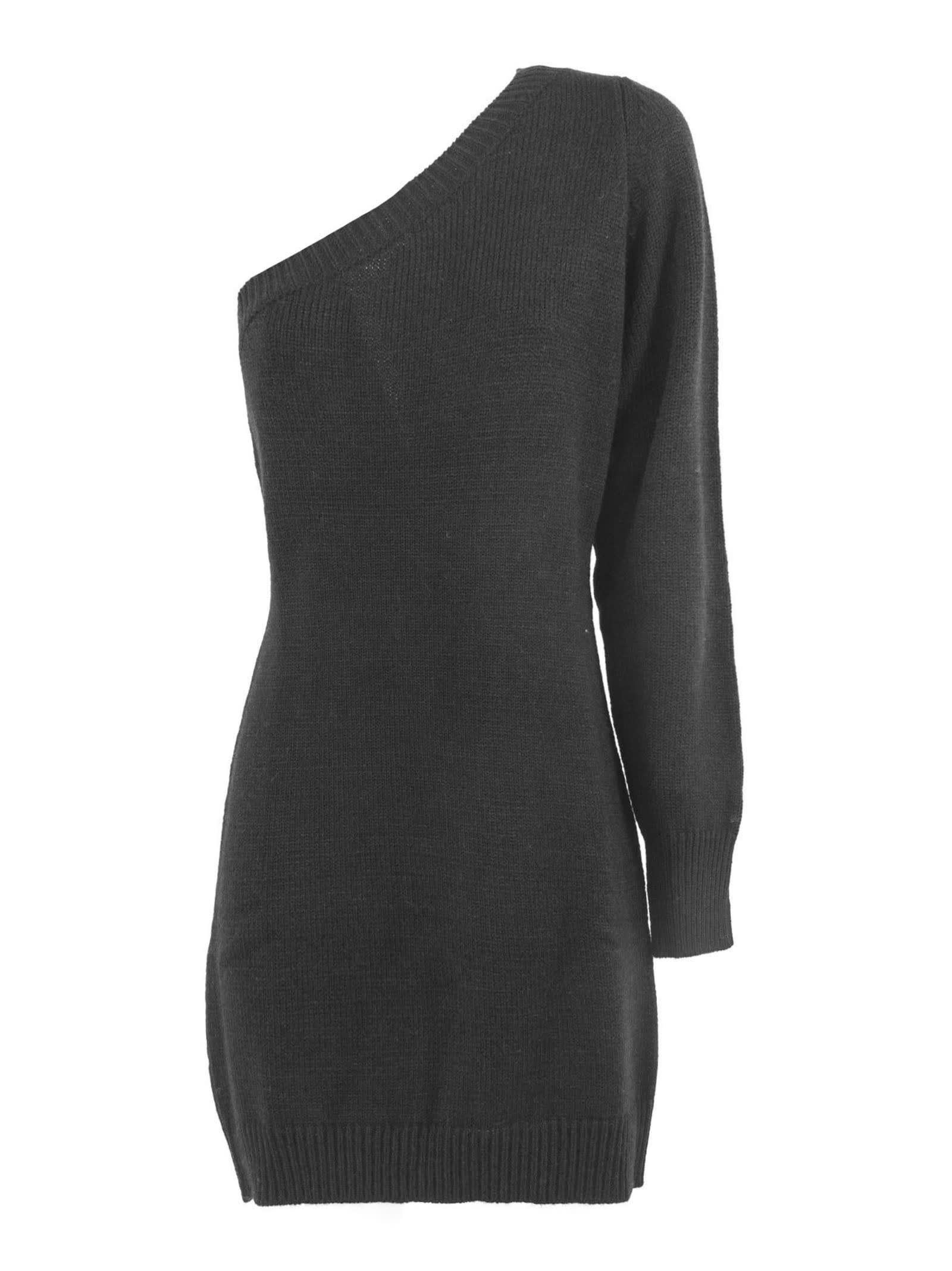 Federica Tosi Black Wool And Alpaca Blend Dress