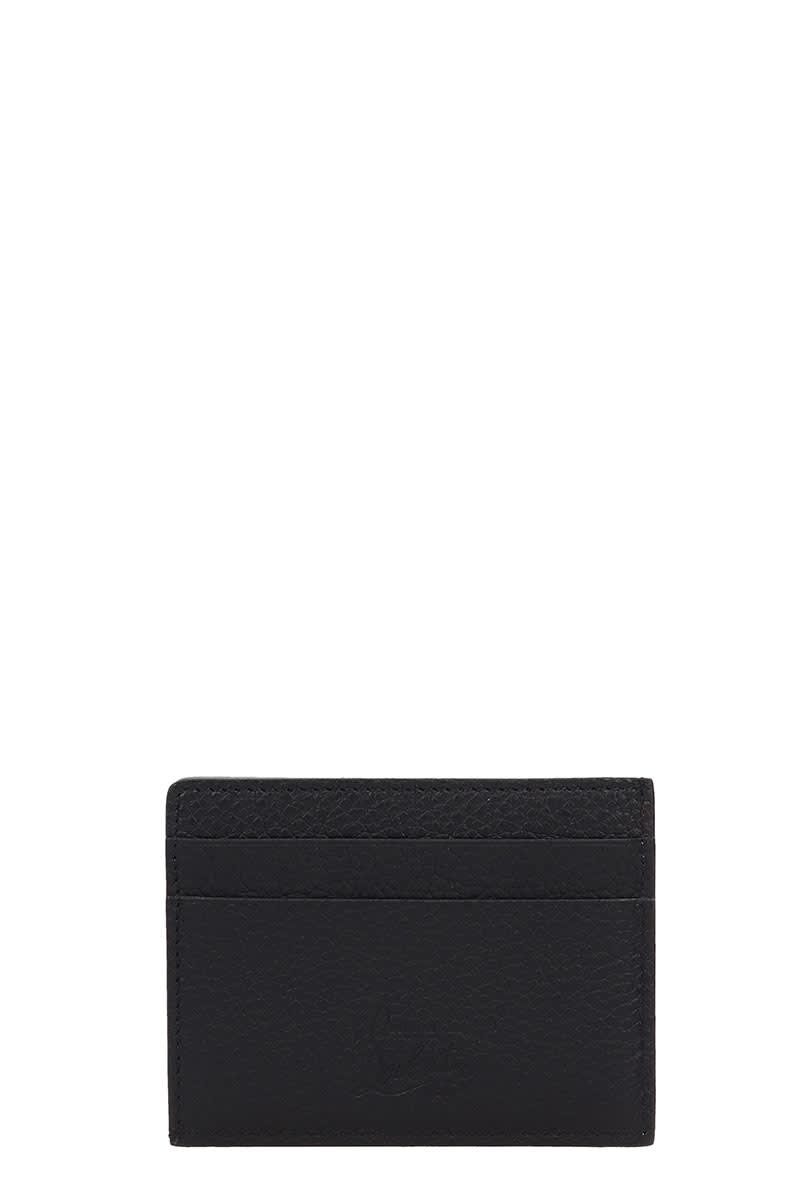 b919a9c0e3c Christian Louboutin Black Leather Kios Nv Card Holder