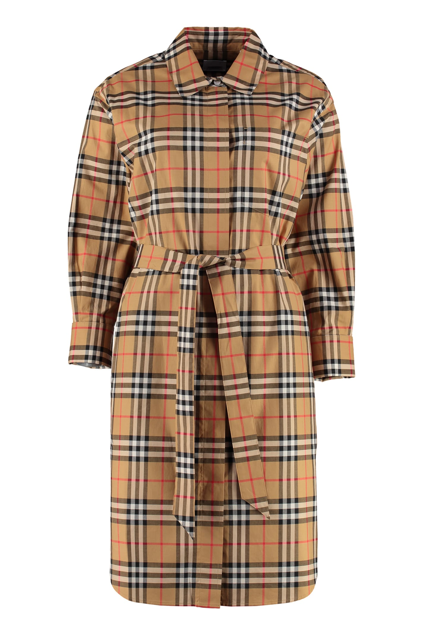 Burberry Vintage Check Cotton Shirtdress