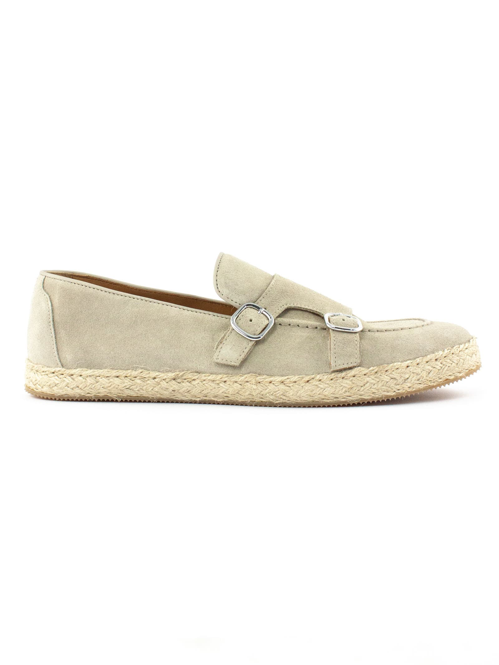 Doucal's BEIGE SUEDE LOAFER