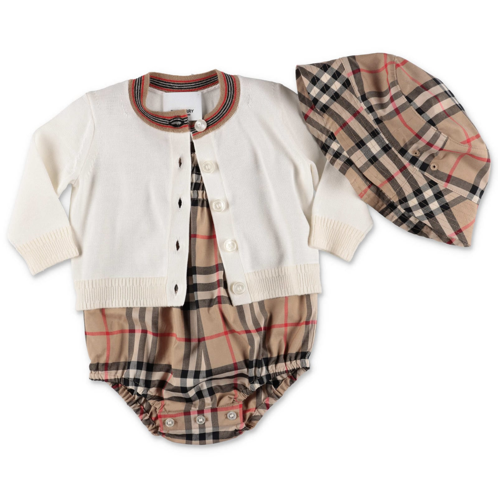 Burberry Babies' Jumpsuit In Check