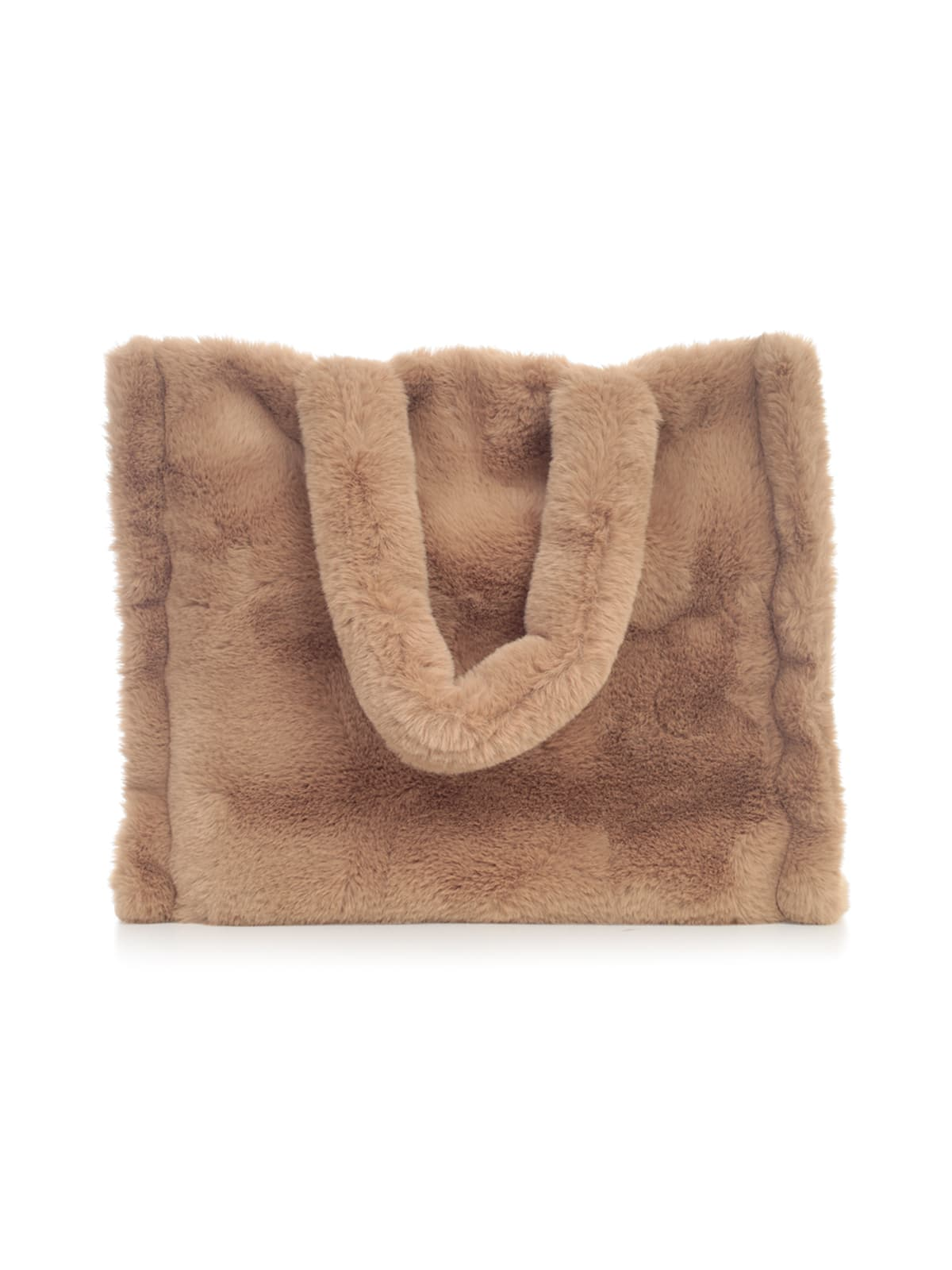 STAND STUDIO Lola Faux Fur Velvety Heavy Large Tote Bag