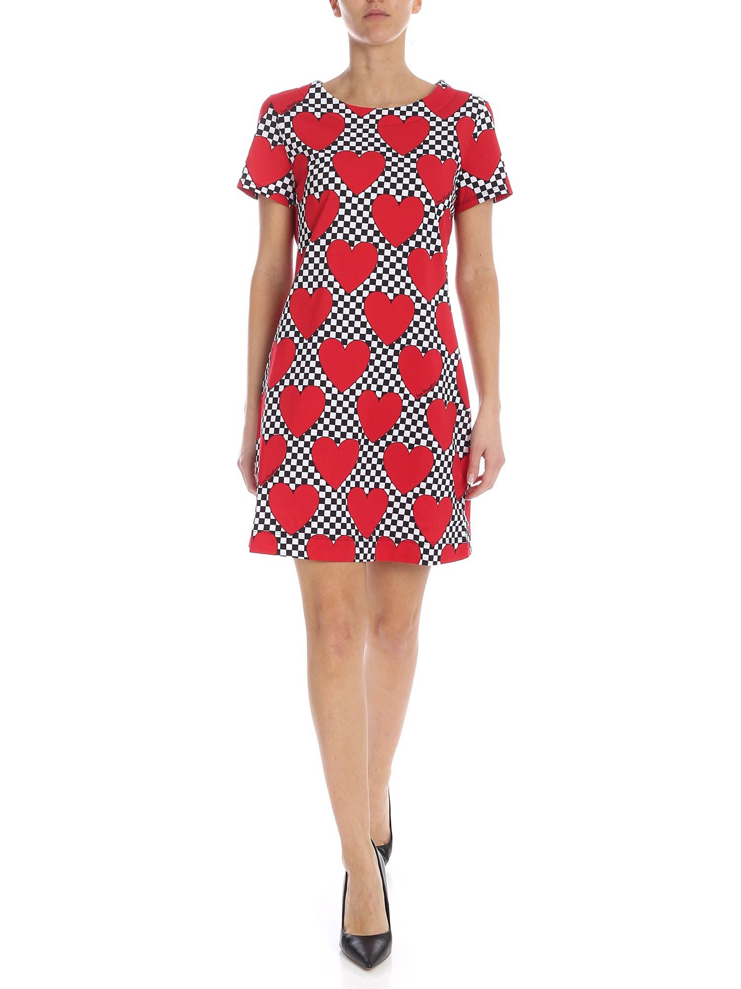 Buy Love Moschino Hearts Dress online, shop Love Moschino with free shipping