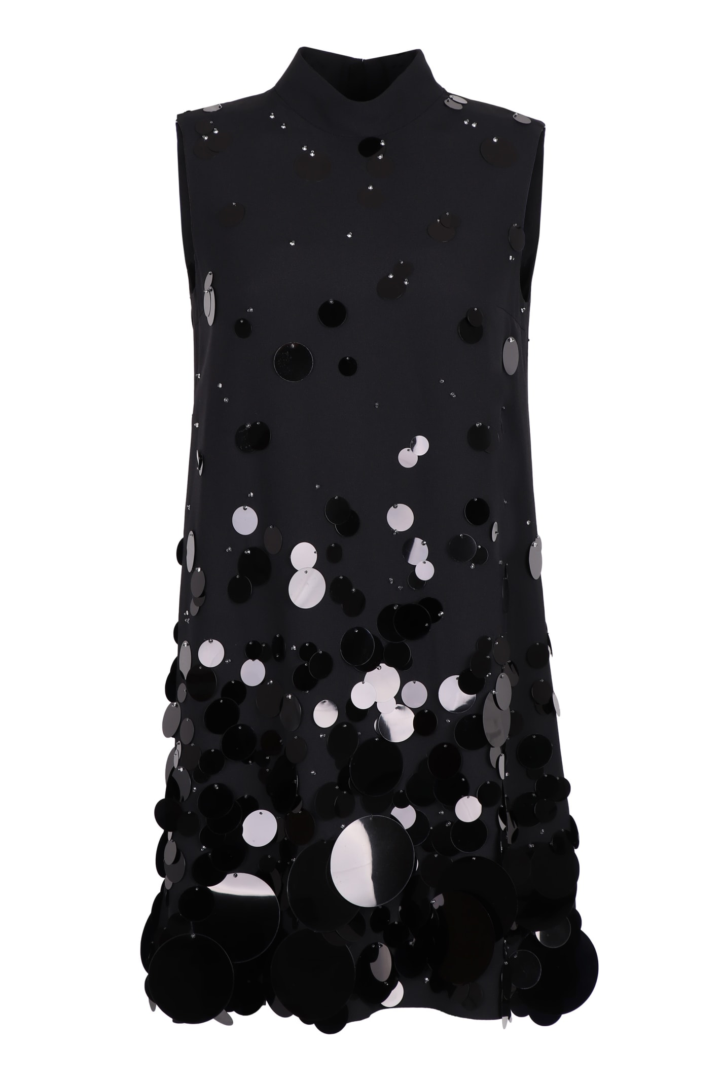 Buy Prada Maxi Sequin Crepe Mini-dress online, shop Prada with free shipping