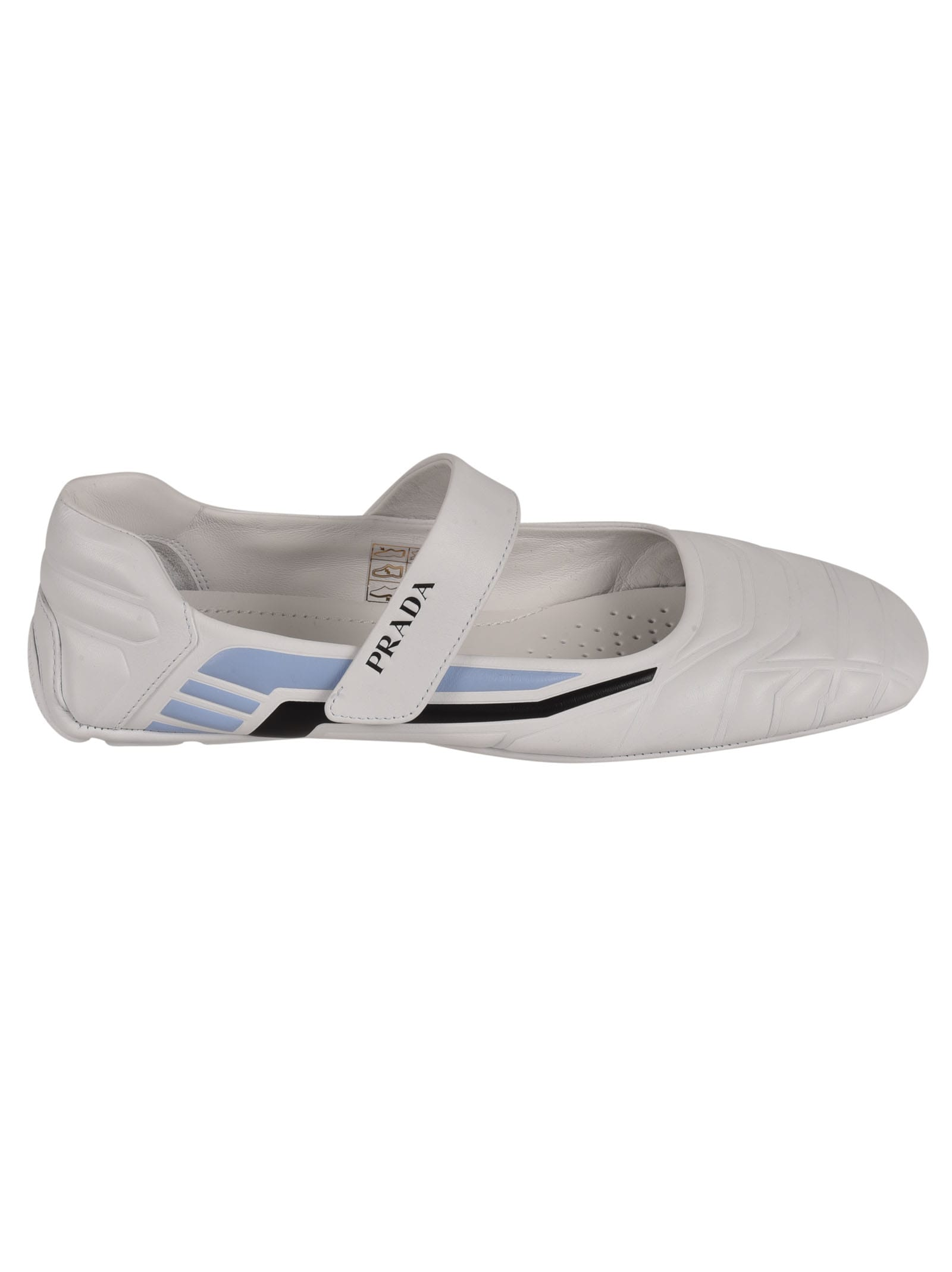 Buy Prada Logo Strap Quilted Slippers online, shop Prada shoes with free shipping