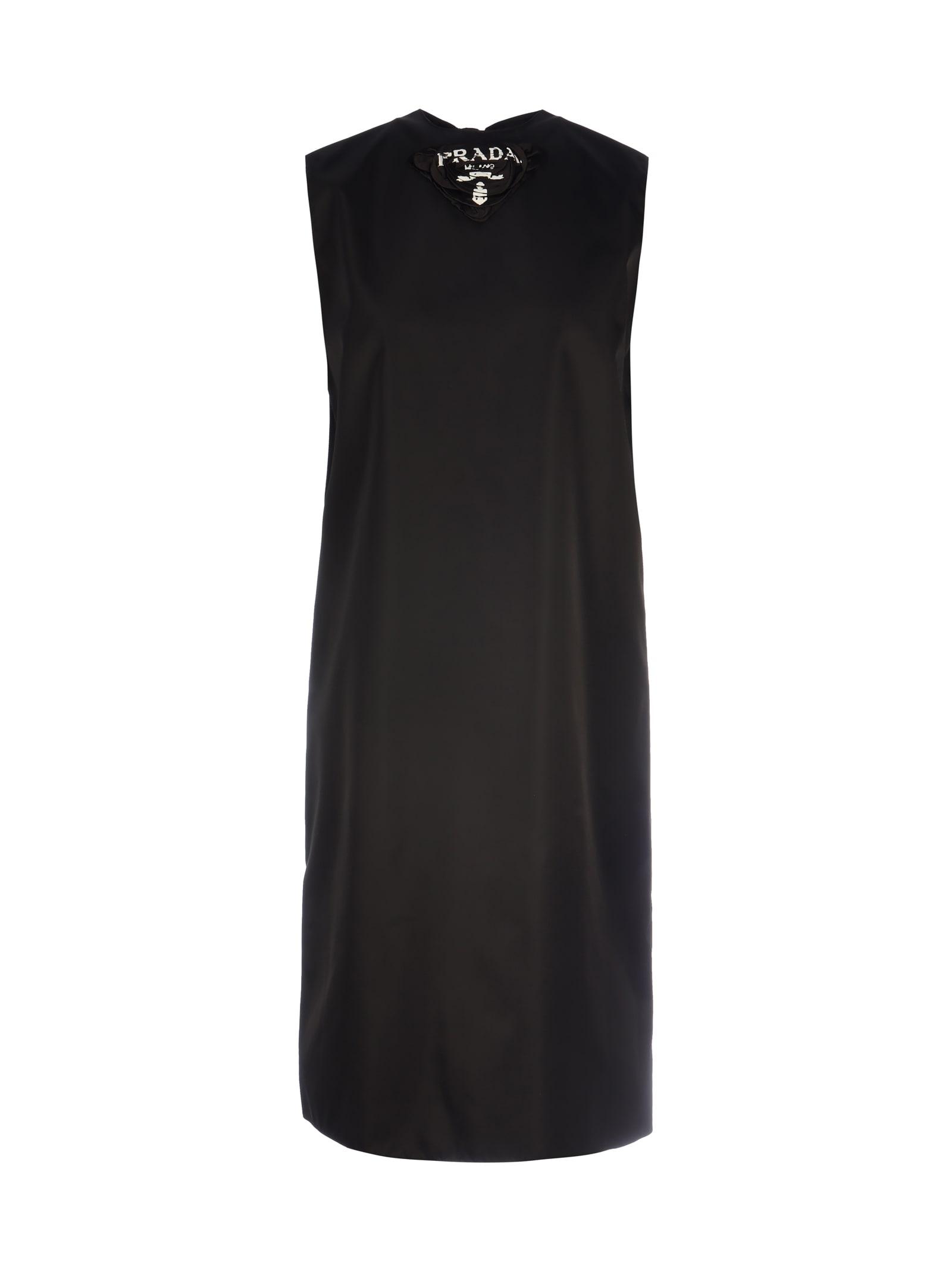 Buy Prada Embroidered Midi Dress online, shop Prada with free shipping
