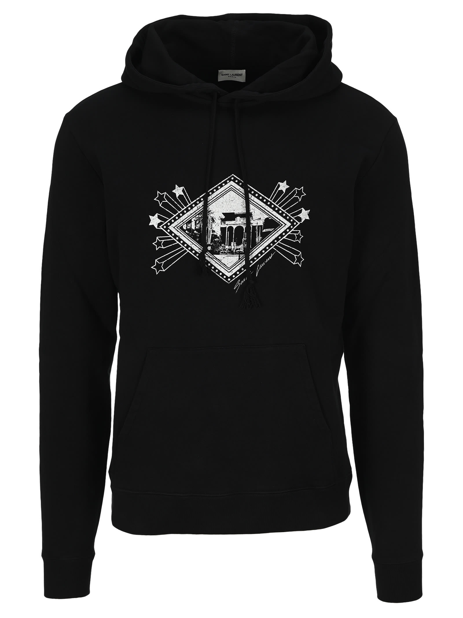 Saint Laurent Graphic Print Hoodie