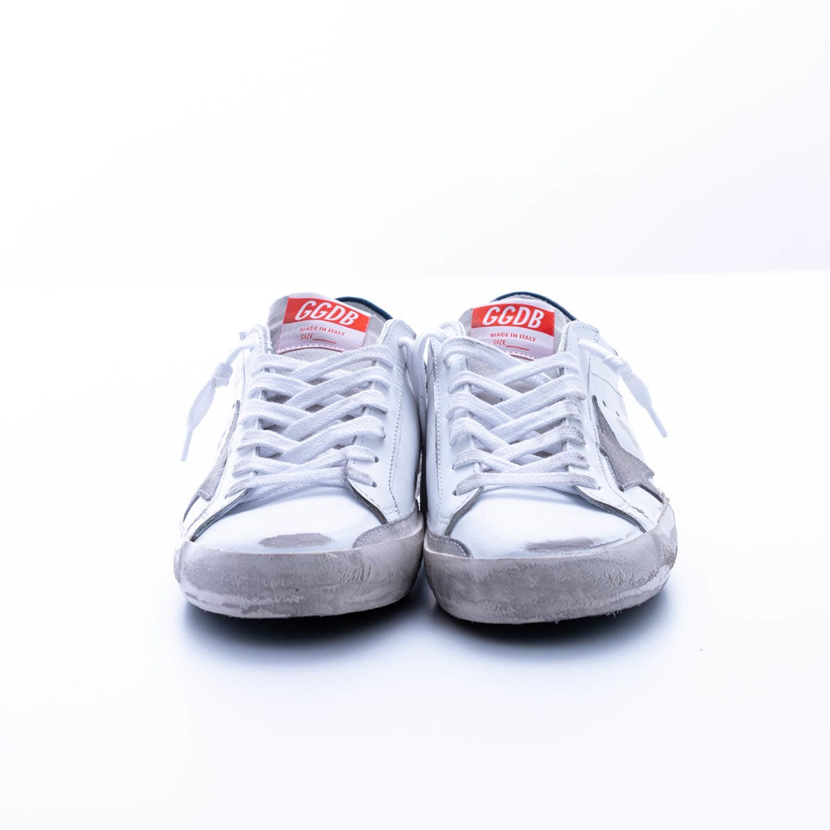 Golden Goose Super-star With Spur Sneaker In White - Ice - Denim Blue