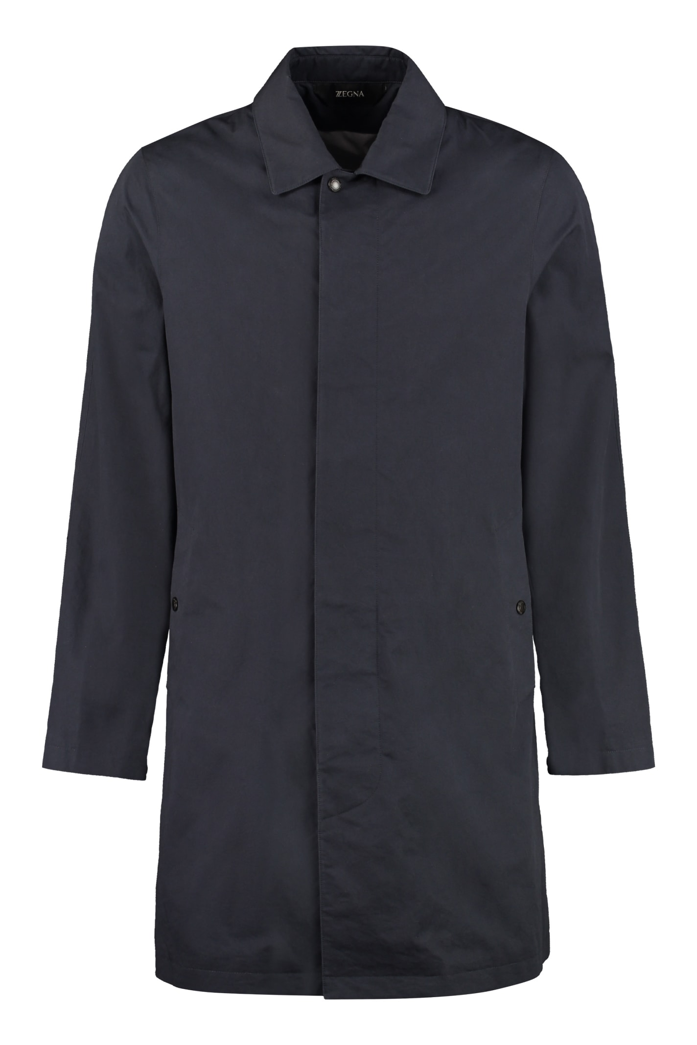 Z Zegna Cotton Trench Coat